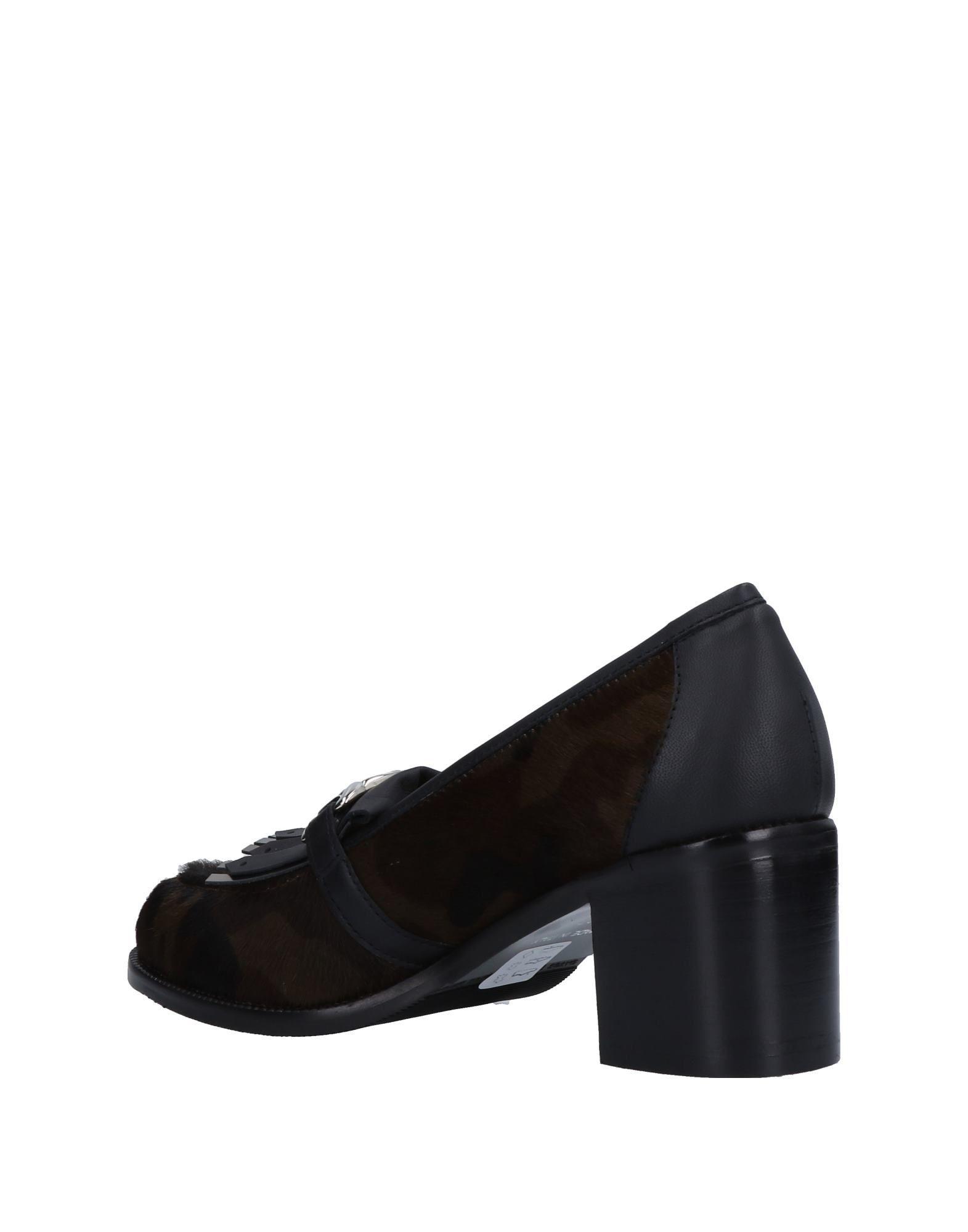 Bruglia Dark Brown Leather Court Shoe Heels