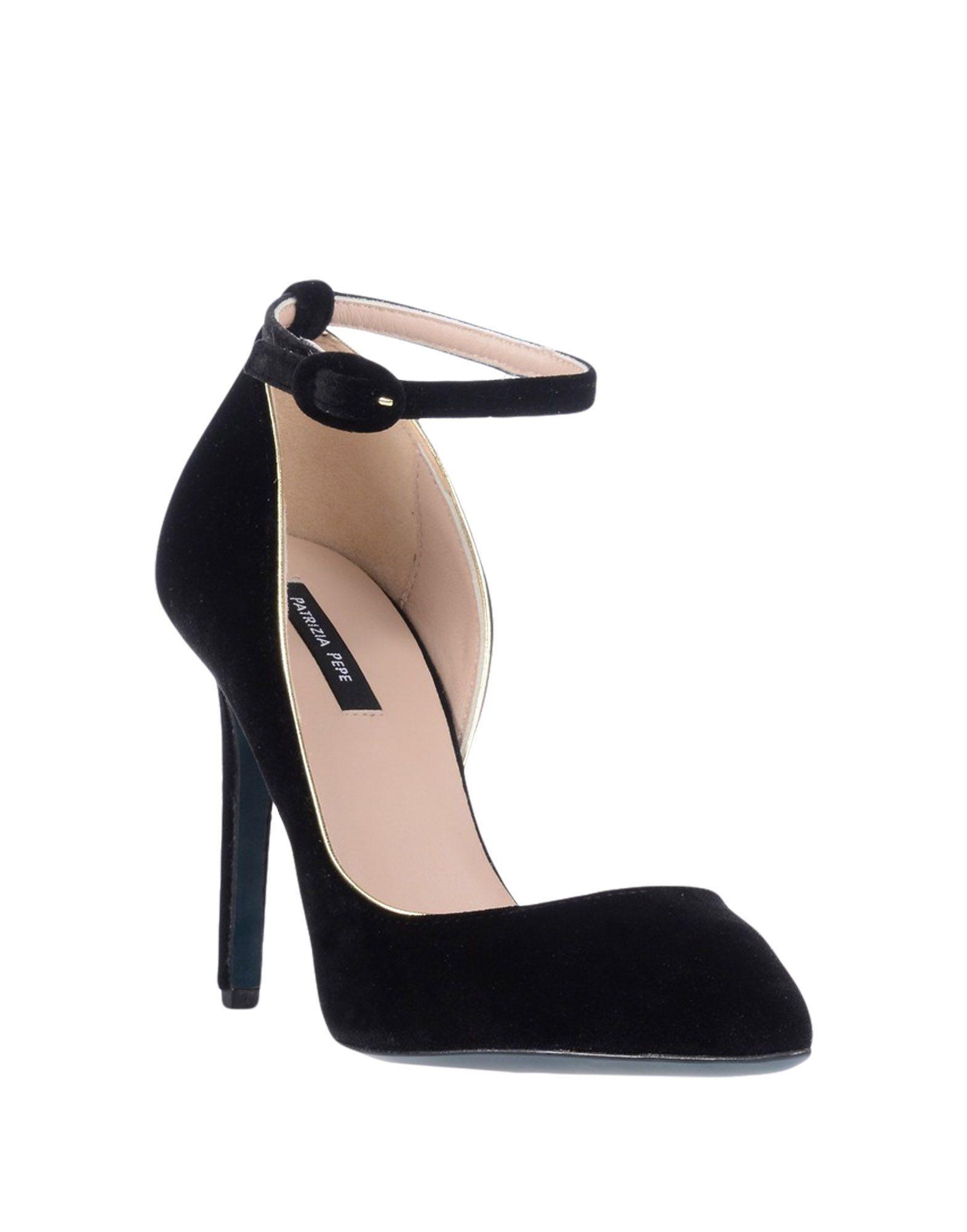 Patrizia Pepe Black Velvet Heels