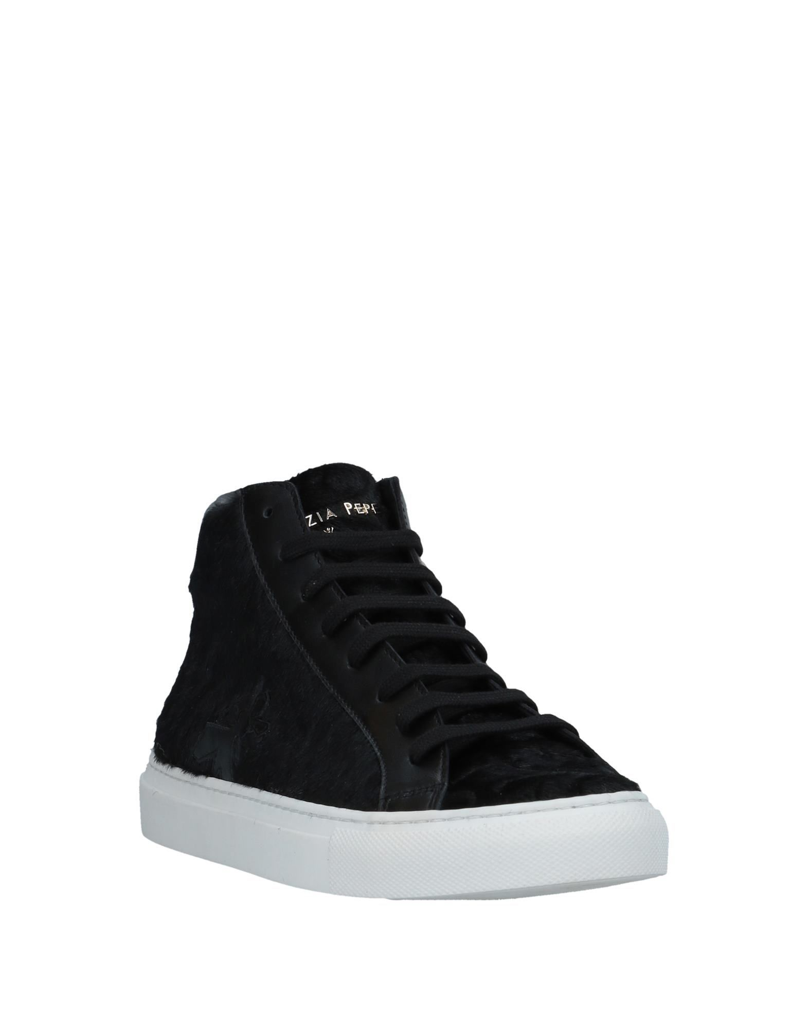 Patrizia Pepe Black Leather Sneakers