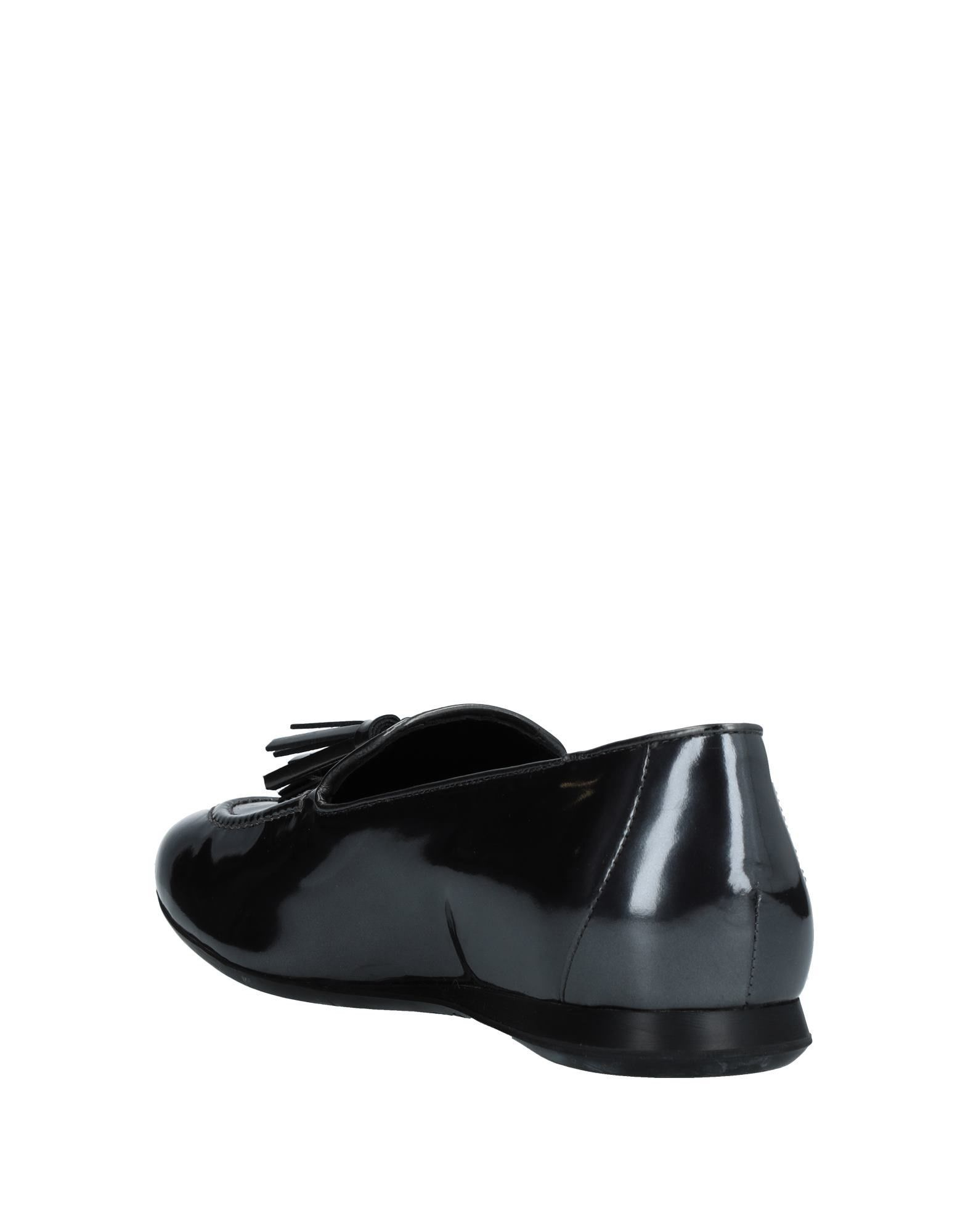 Hogan Lead Leather Loafers