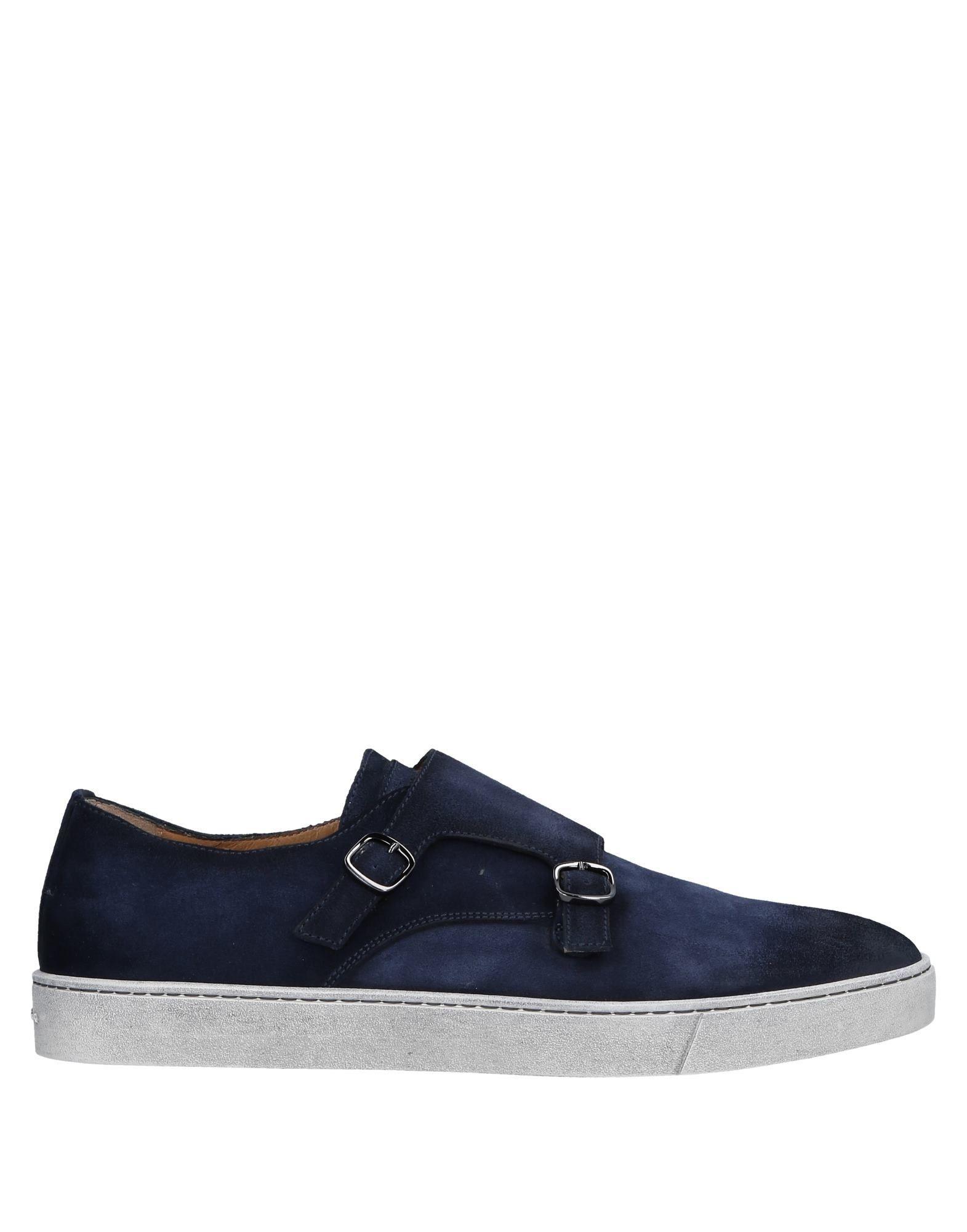 Santoni Dark Blue Leather Monkstrap