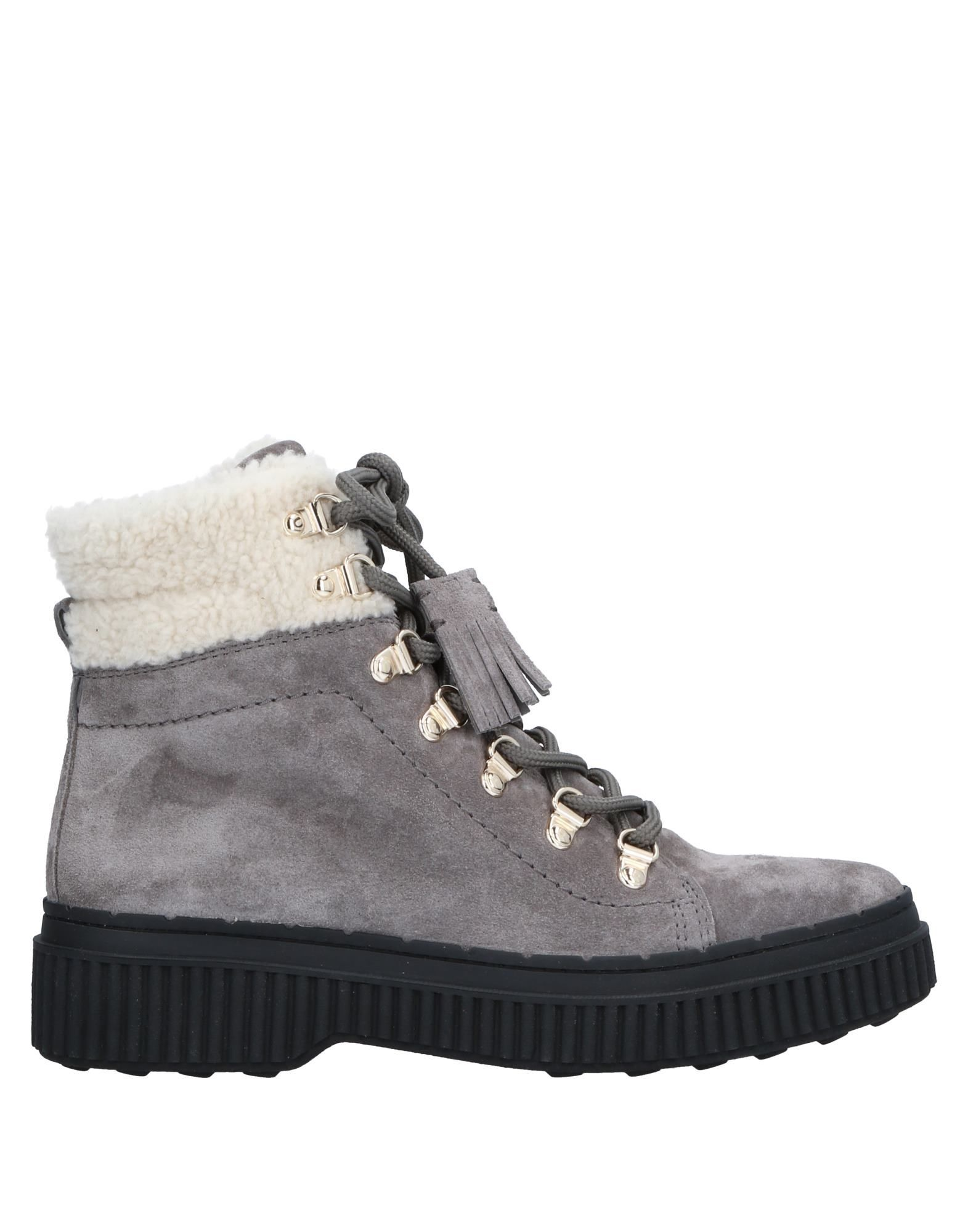 Tod's Grey Suede Lace Up Boots