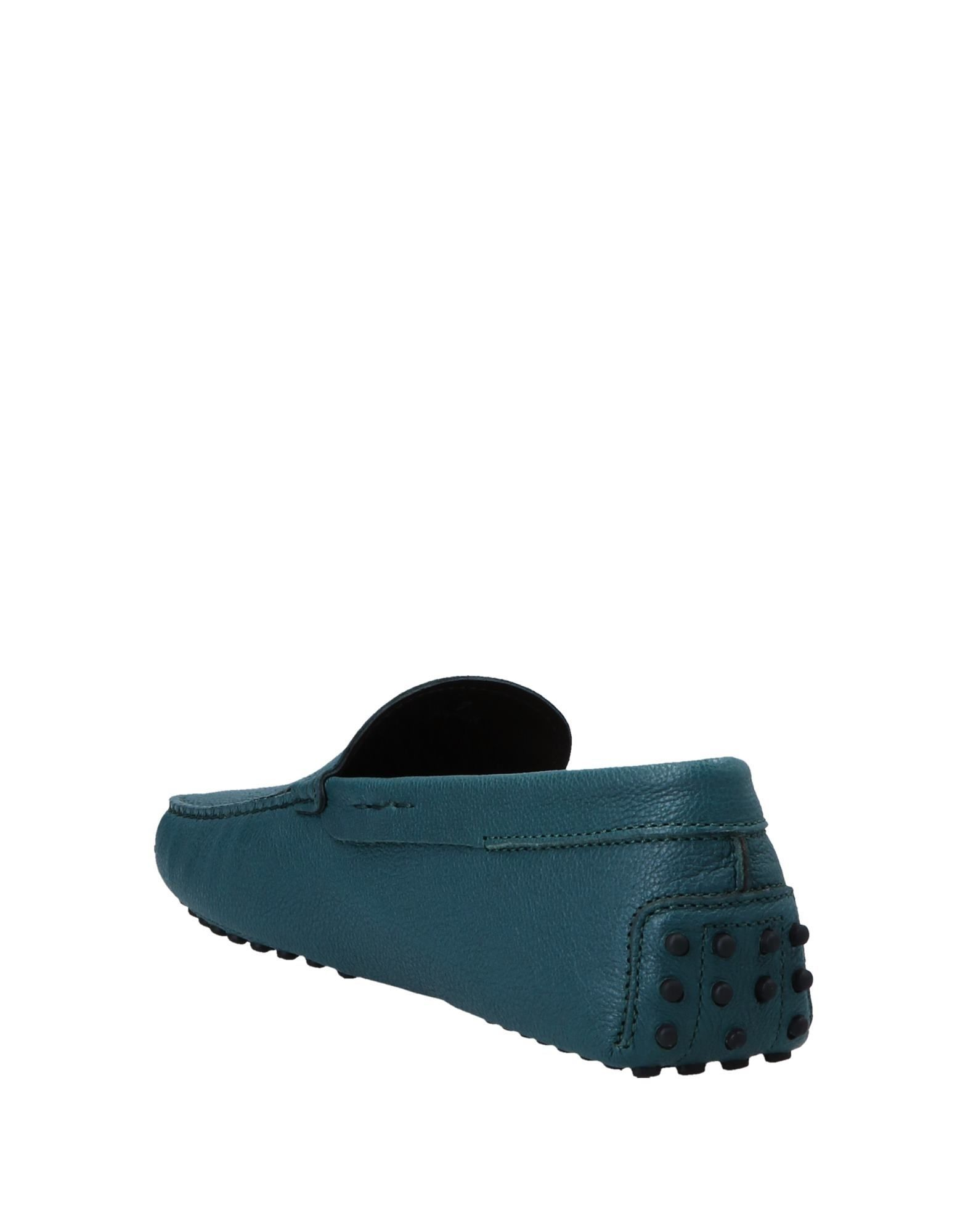 Tod's Deep Jade Leather Loafers