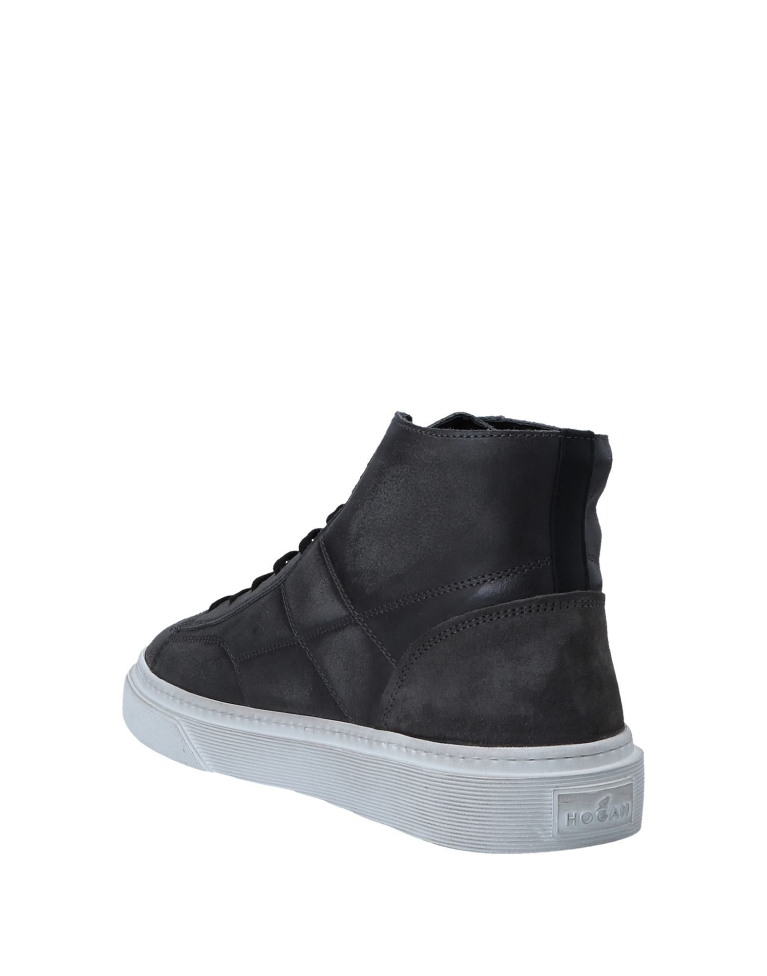Hogan Steel Grey Leather Sneakers
