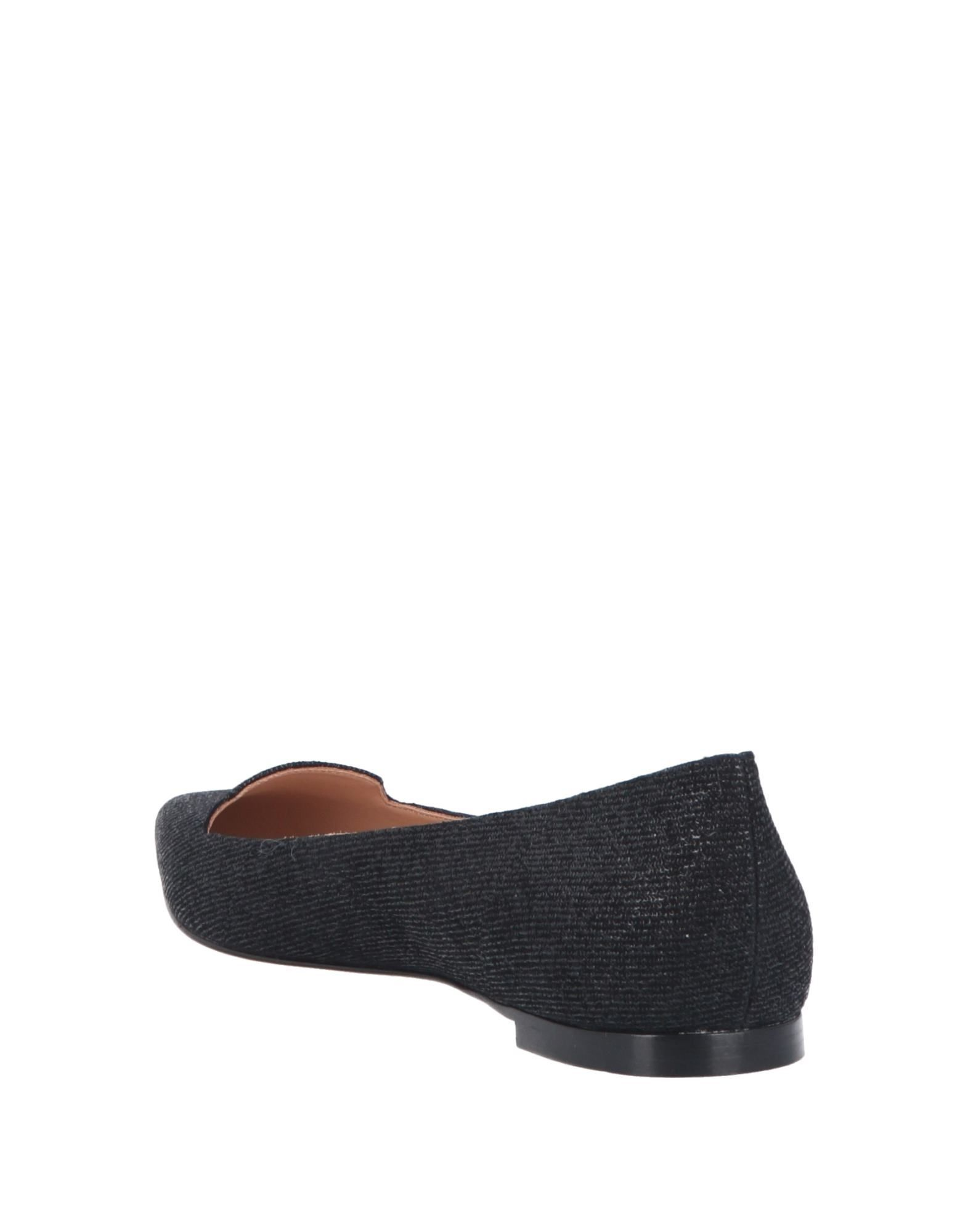 Sergio Rossi Black Leather Ballet Flats