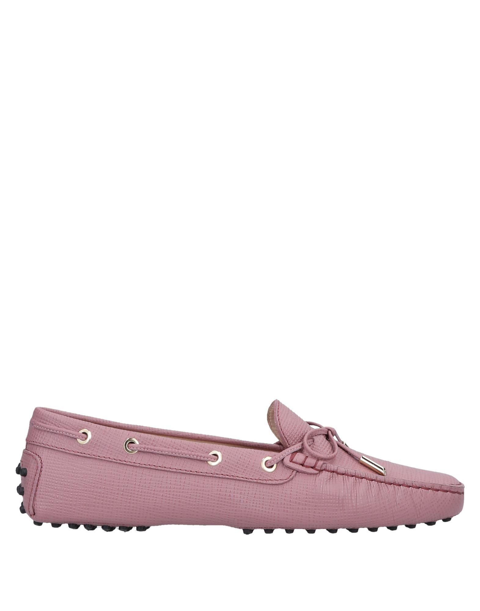 Tod's Light Purple Leather Loafers