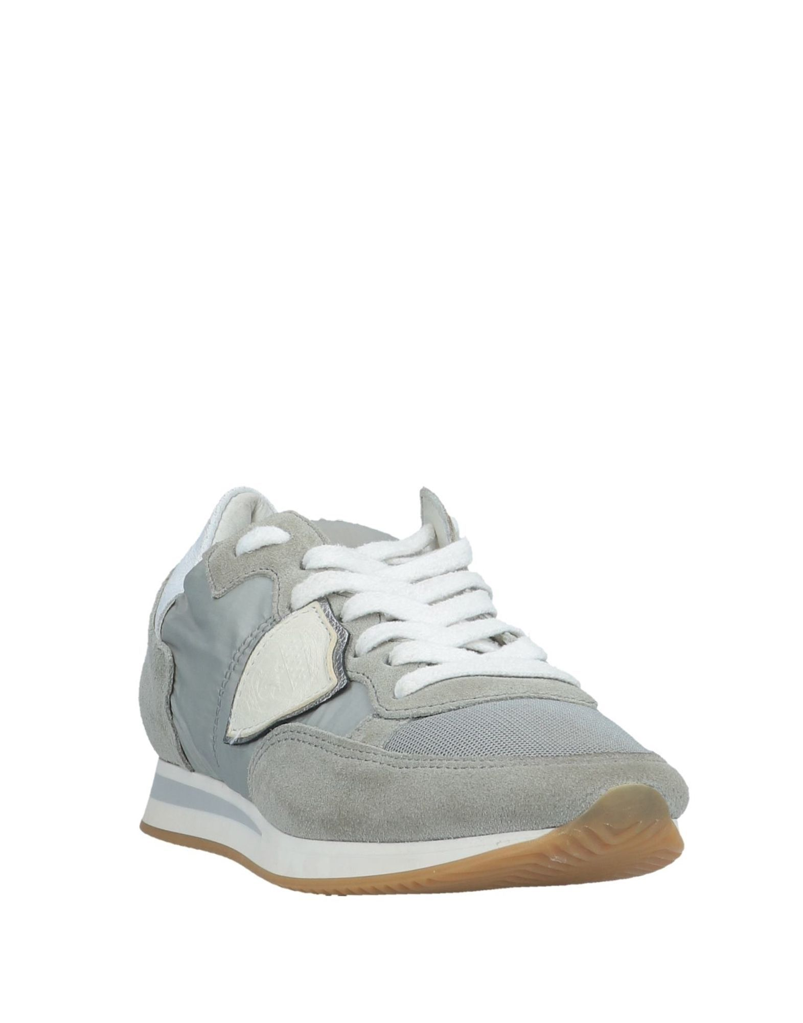 Philippe Model Light Grey Leather Sneakers