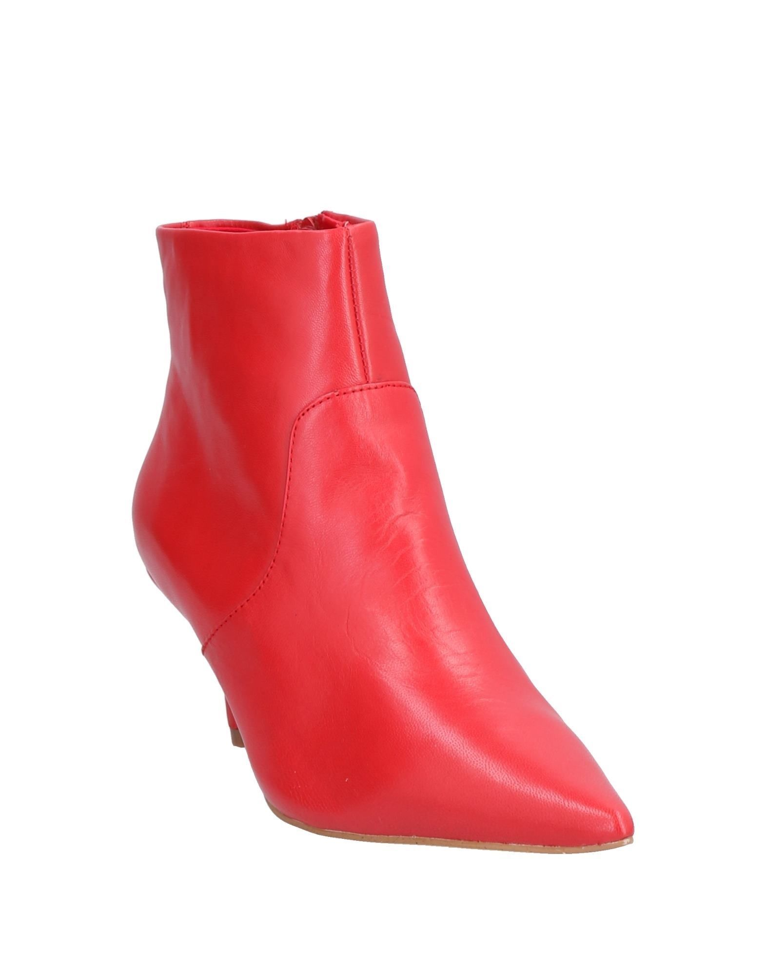 Steve Madden Red Leather Ankle Boots