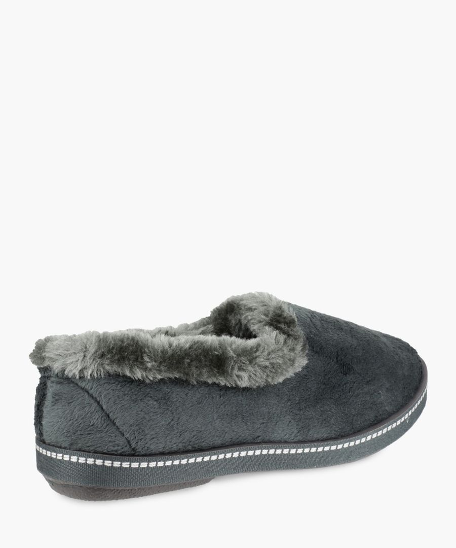 Womens grey slippers