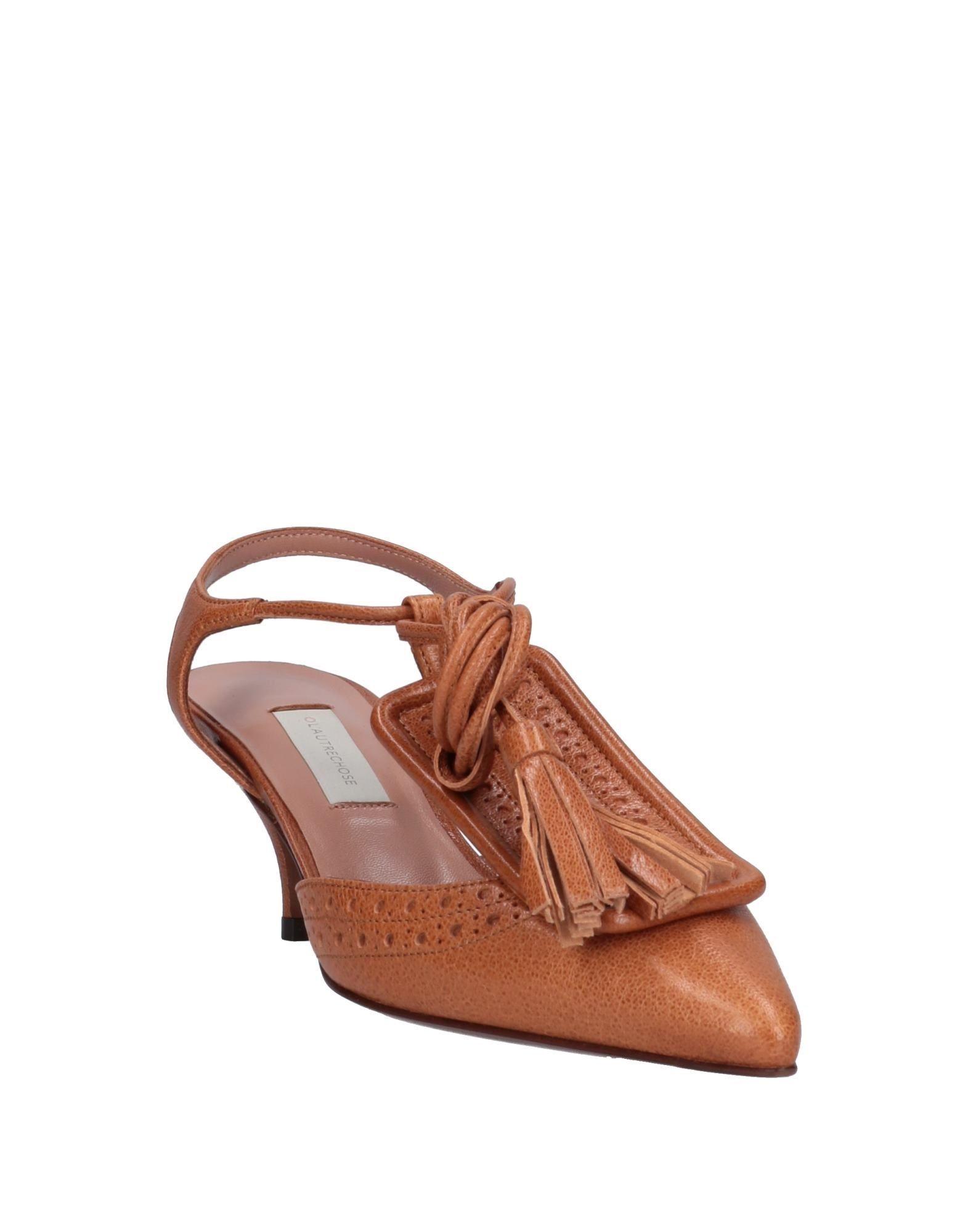 L' Autre Chose Tan Leather Kitten Heels