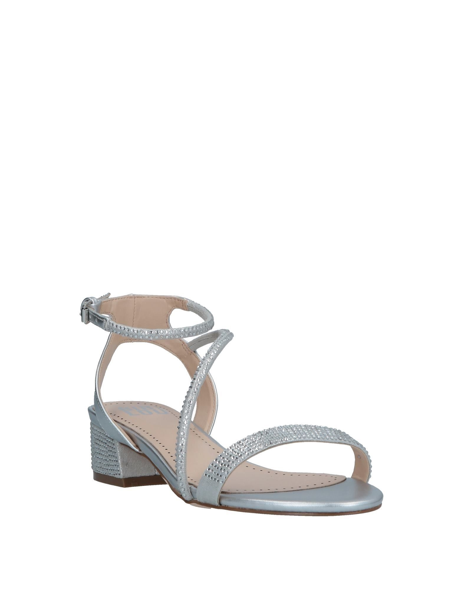 Bibi Lou Silver Low Heel Sandals