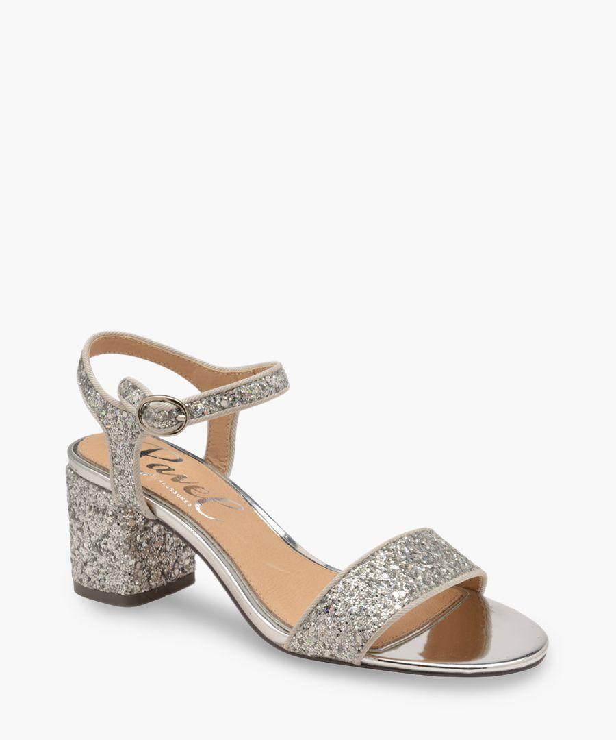 Silver-tone heels