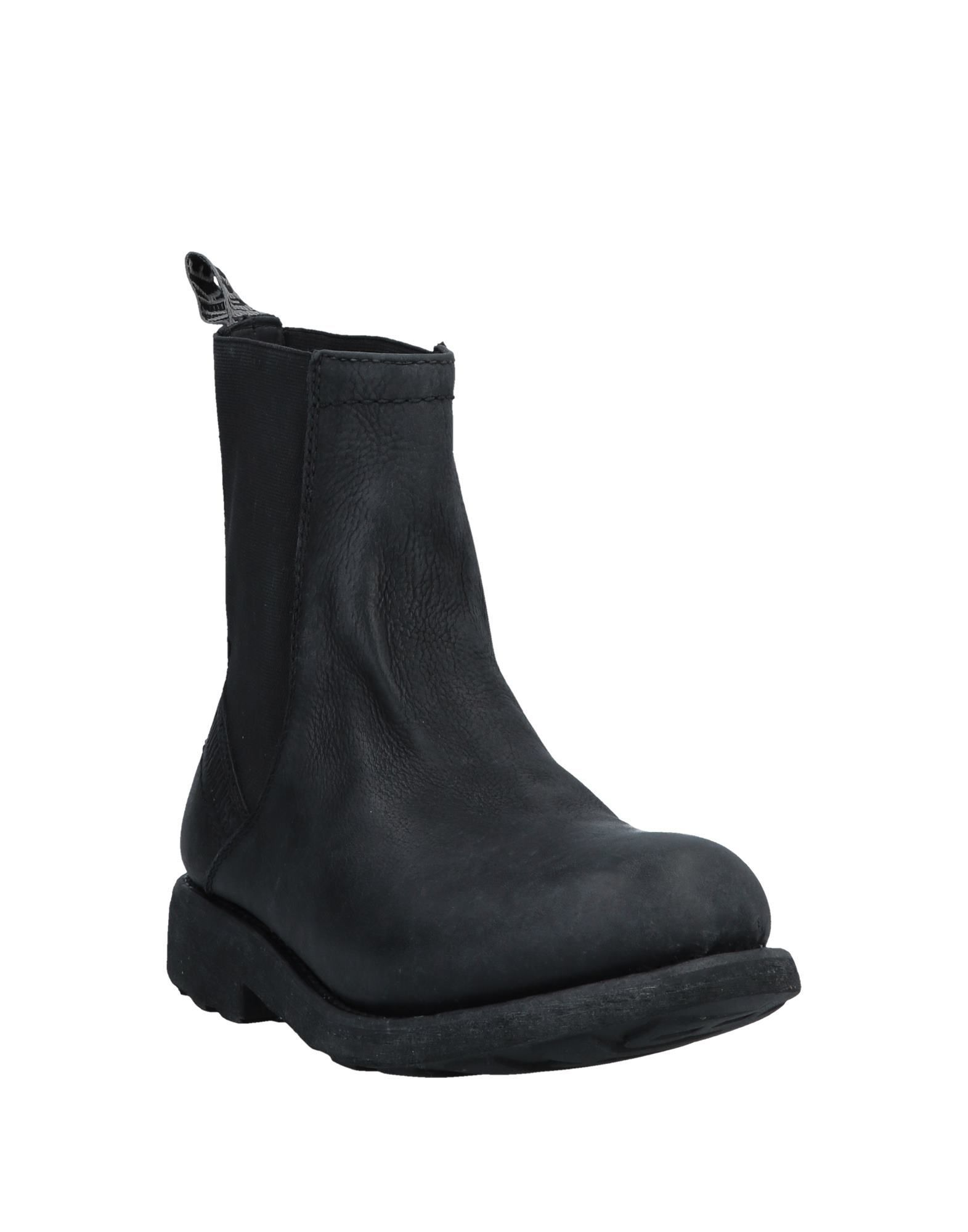 Bikkembergs Black Leather Ankle Boots