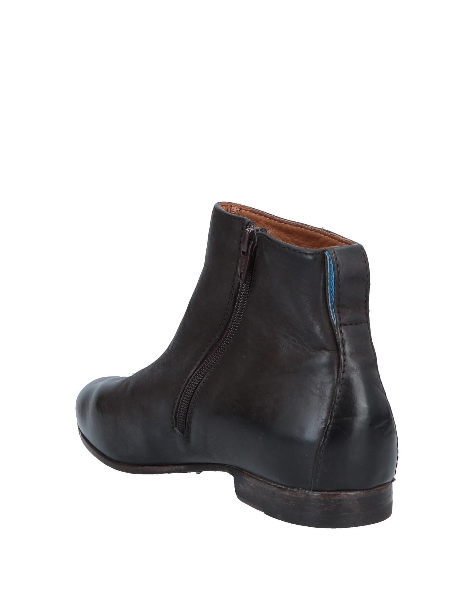 Moma Dark Brown Leather Ankle Boots