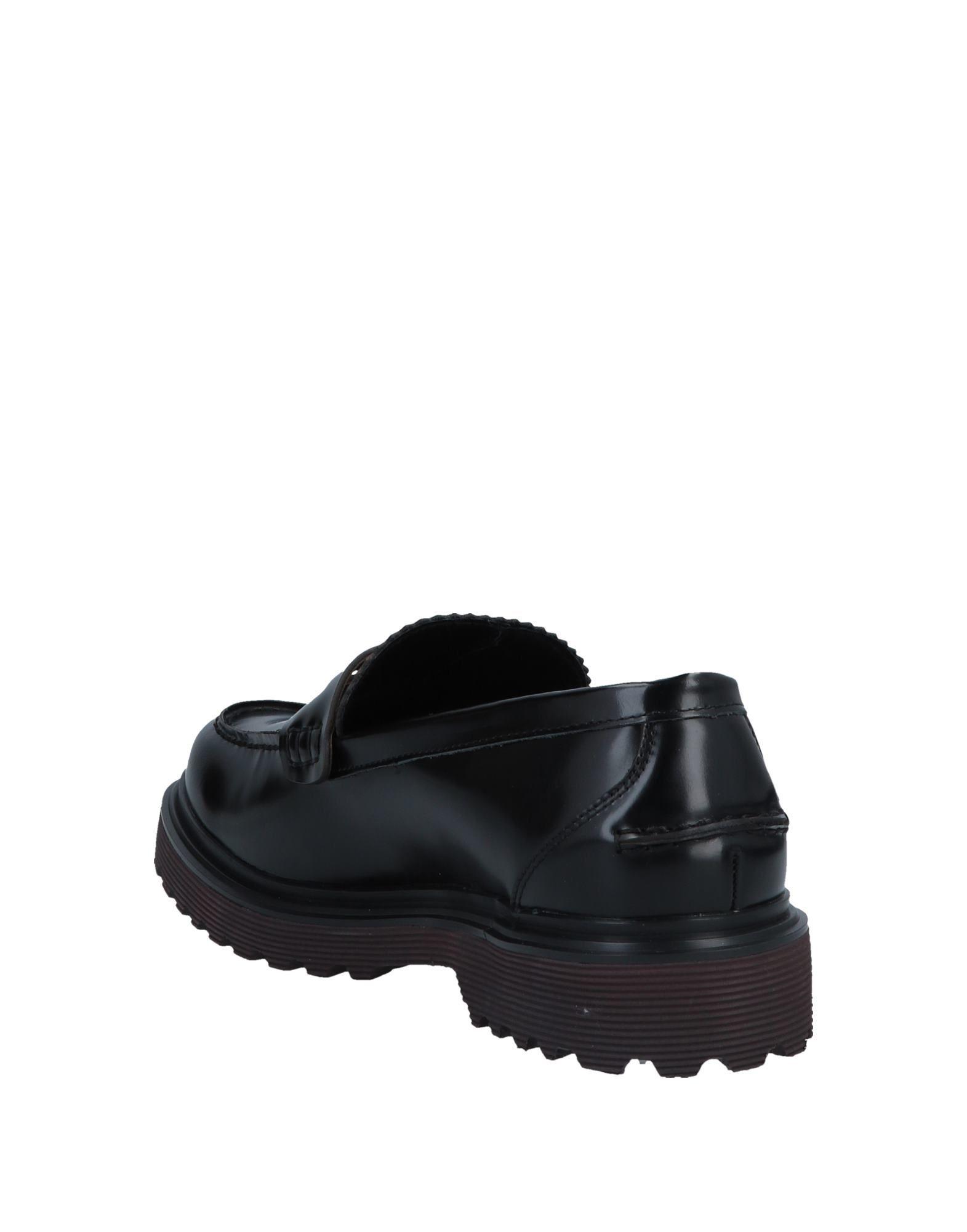 Docksteps Black Leather Loafers