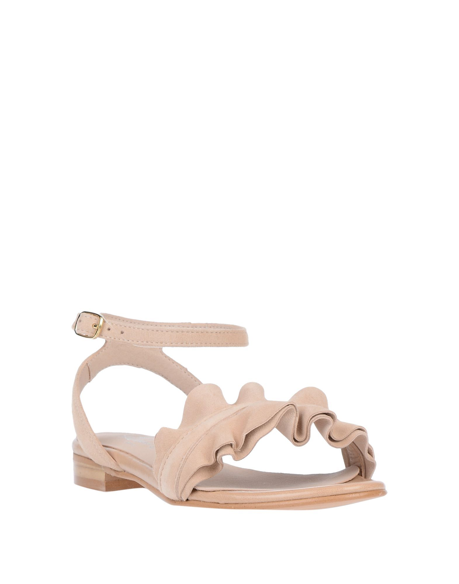 Flavio Creation Beige Leather Sandals