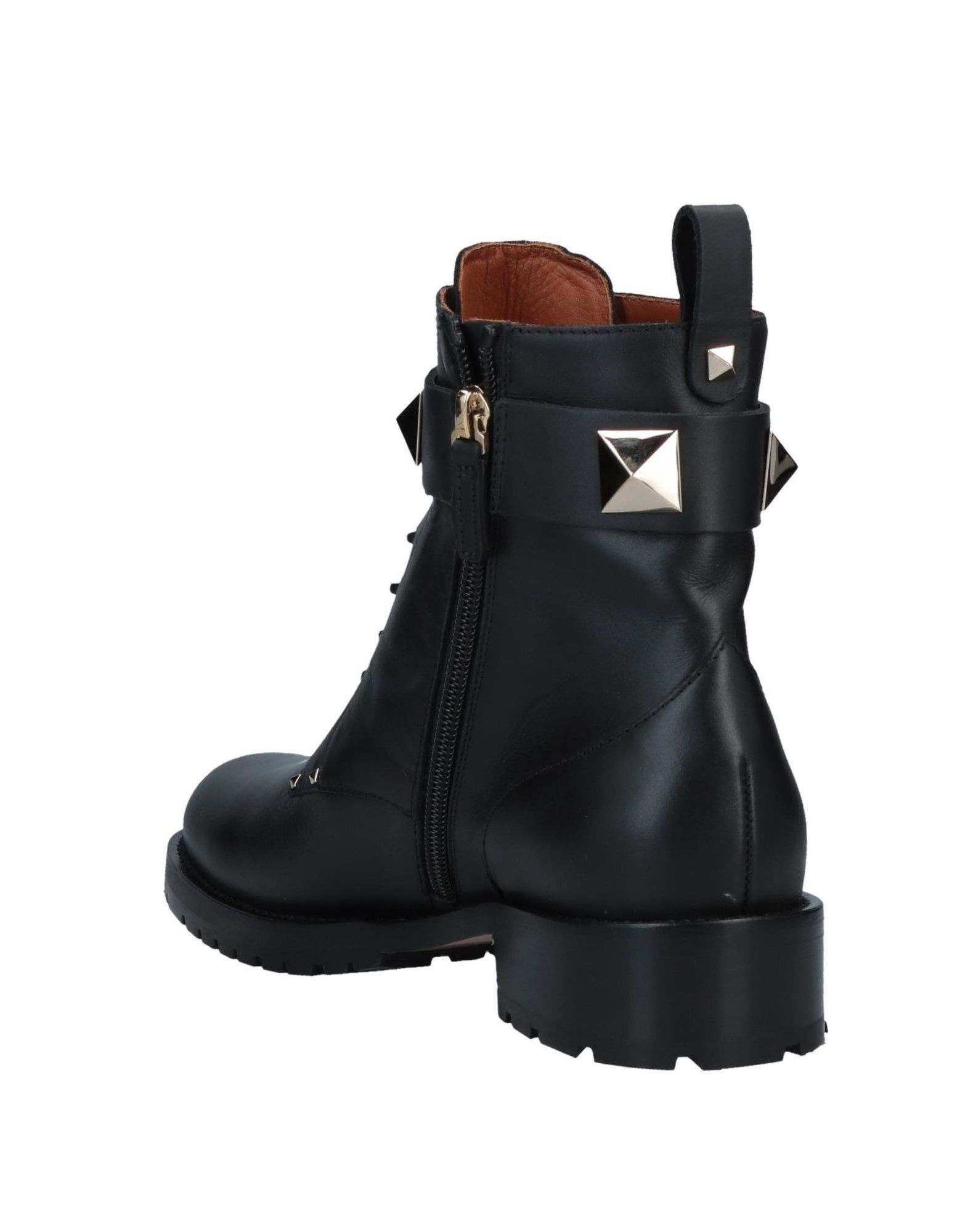 Valentino Garavani Black Leather Ankle Boots