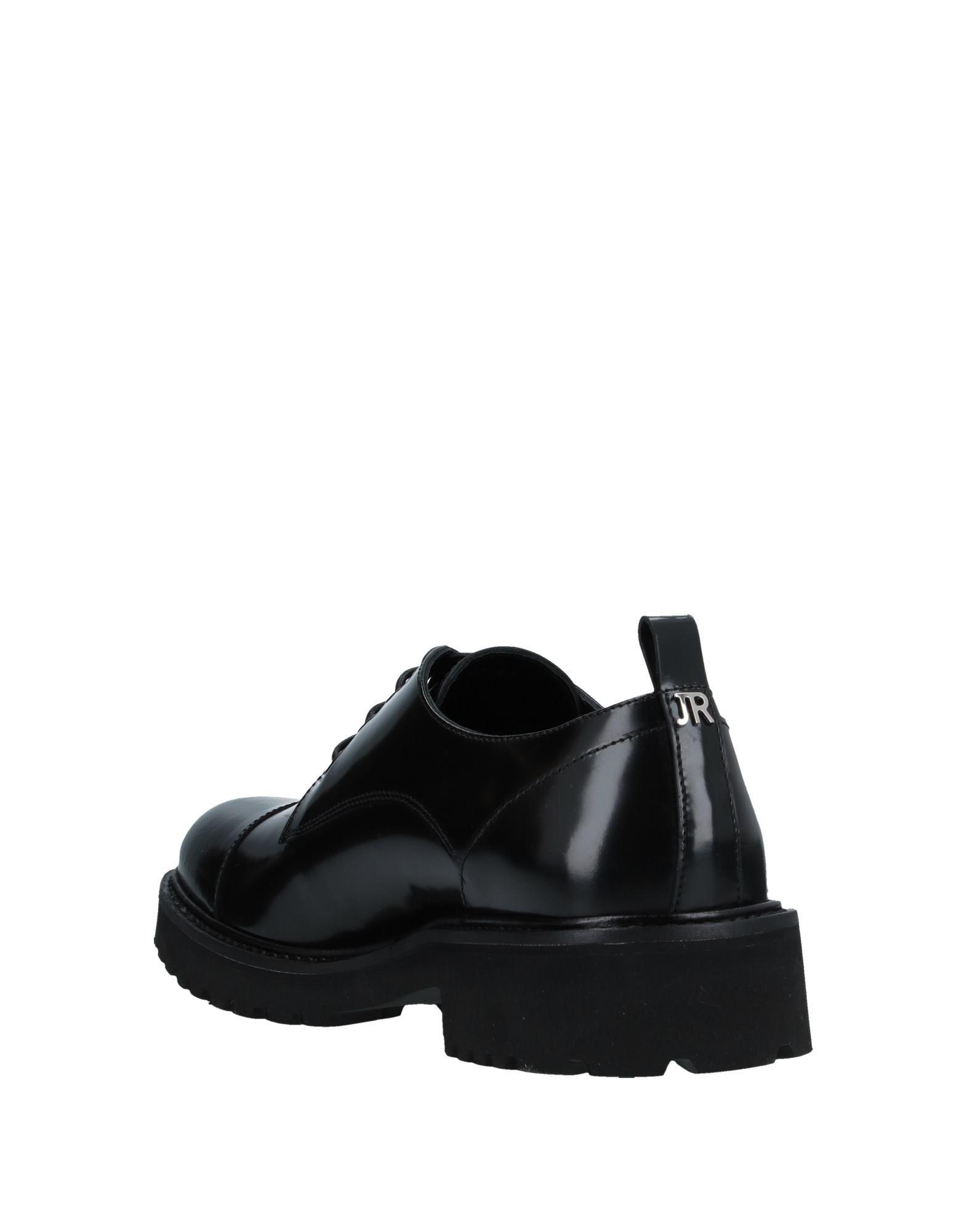 John Richmond Black Polished Leather Lace Up Shoes