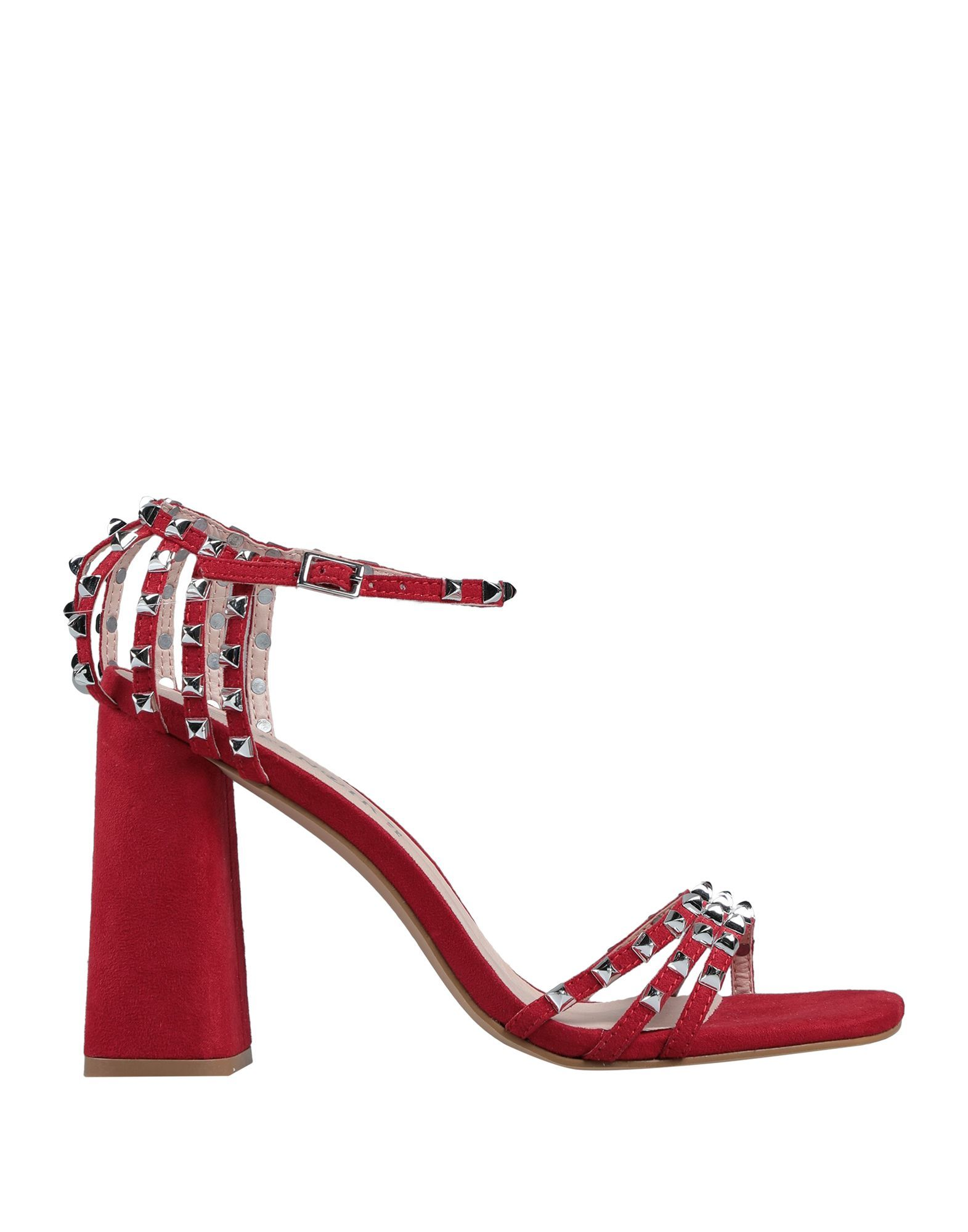 Cafenoir Red Studded Heeled Sandals