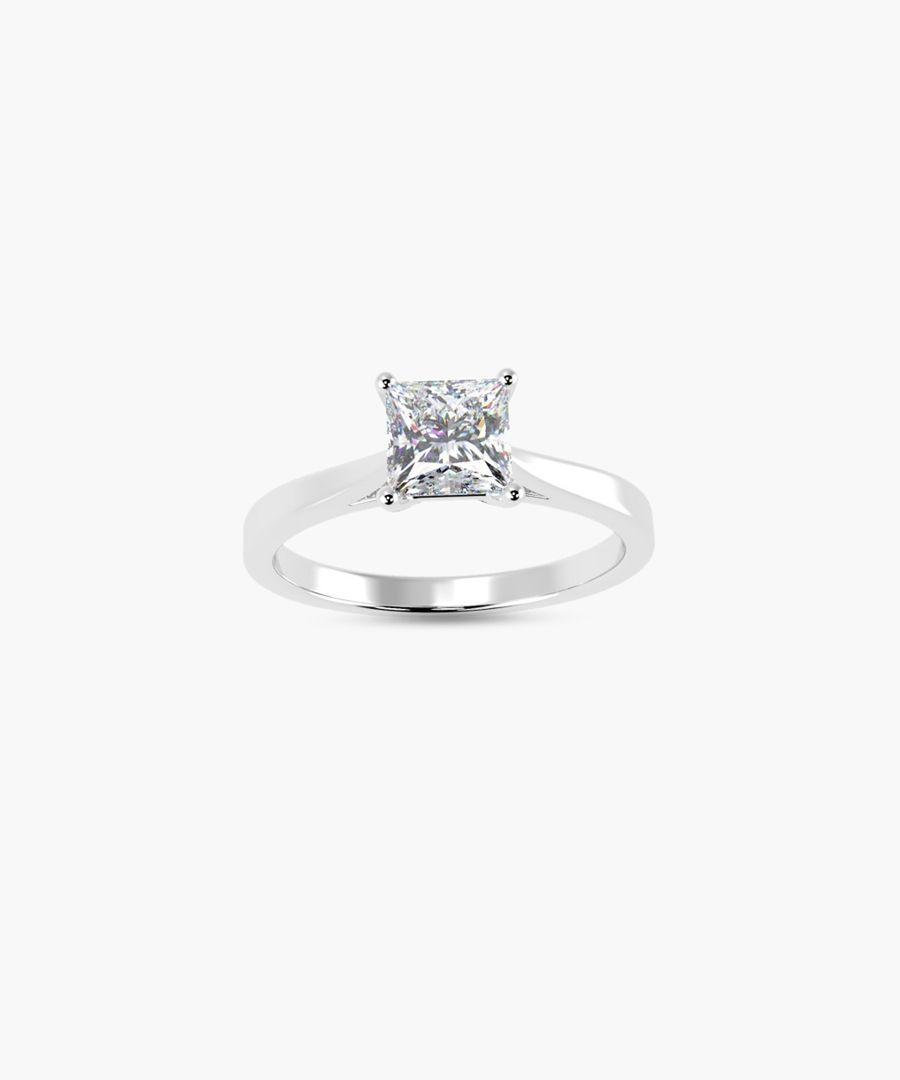 0.50ct princess diamond solitaire ring