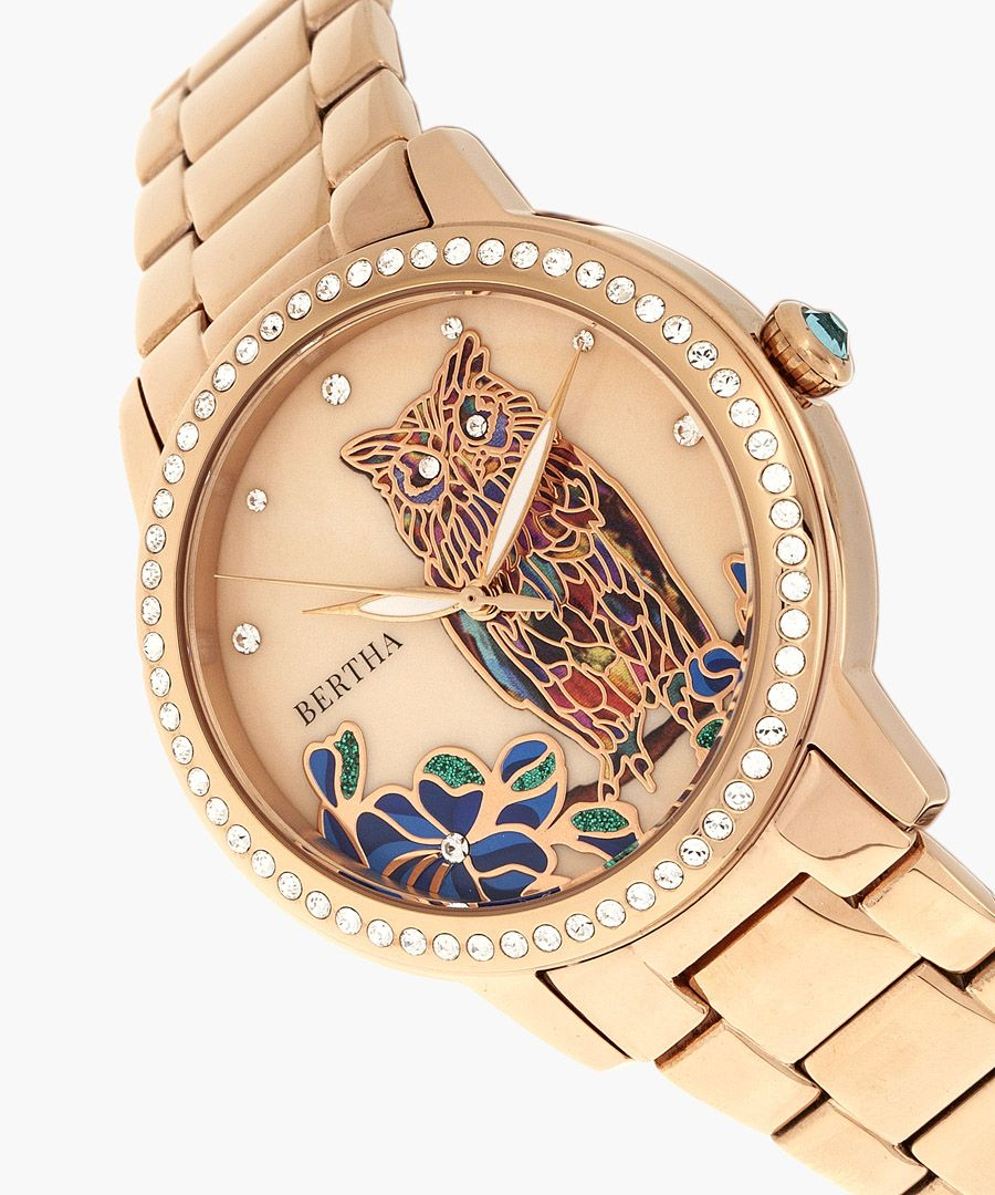 Madeline rose gold-tone watch
