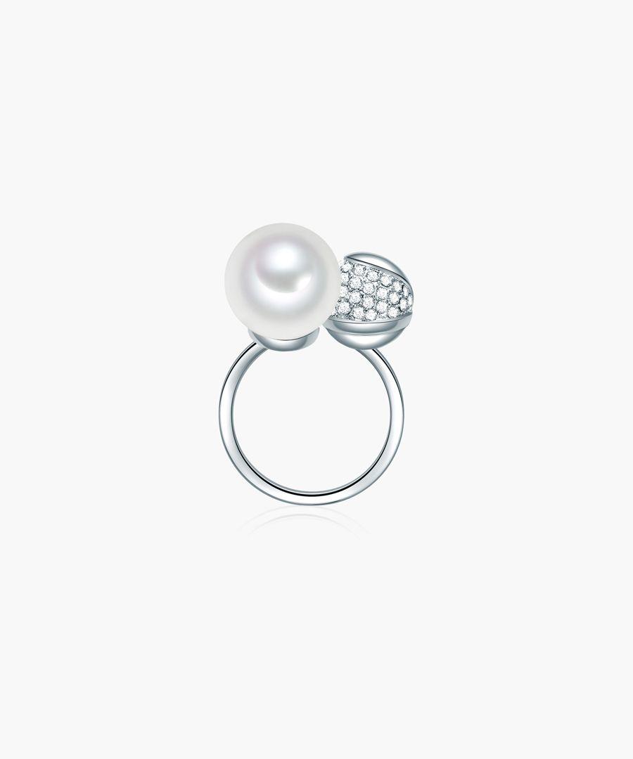 Perldesse white pearl ring