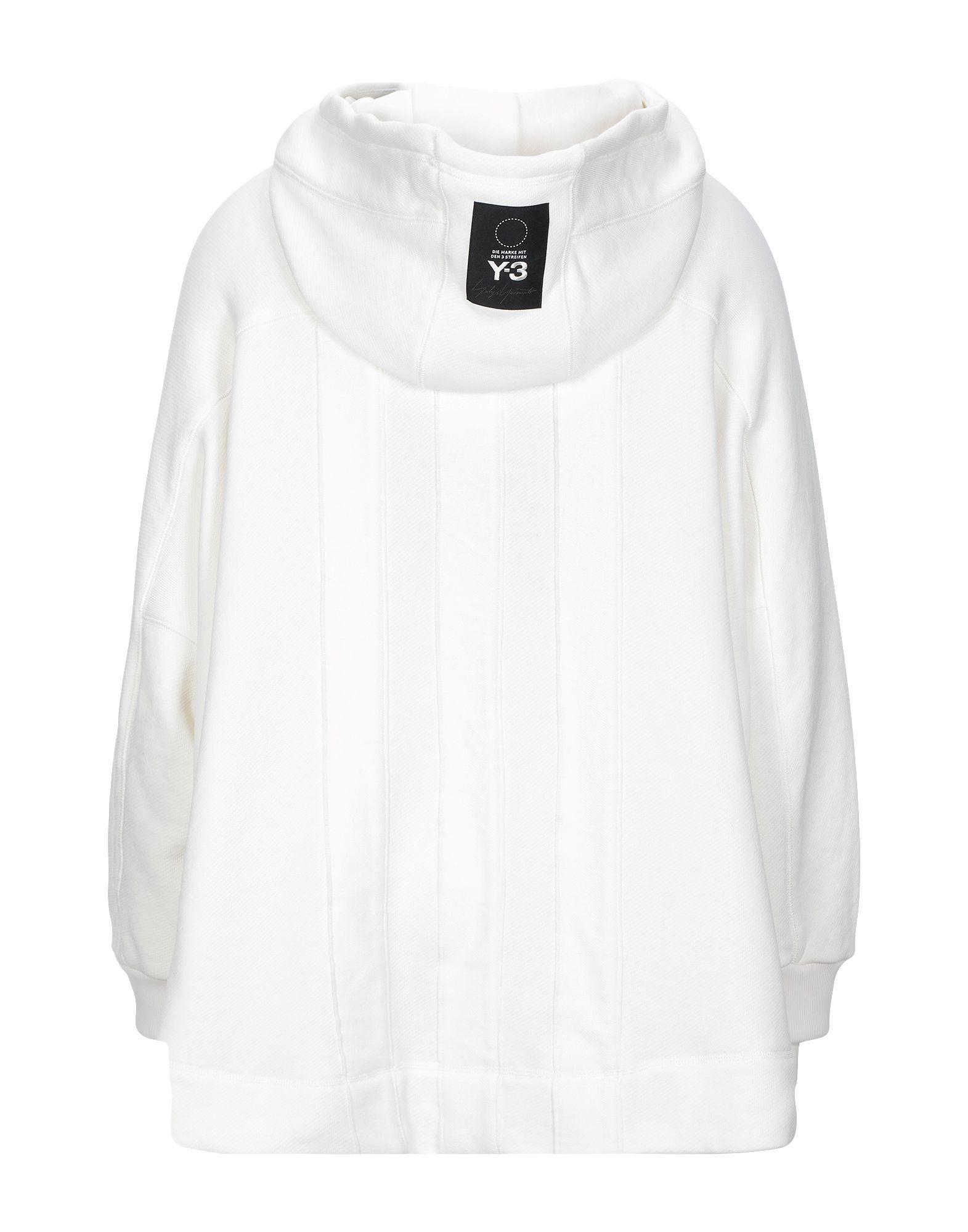 Y-3 White Cotton Hoodie