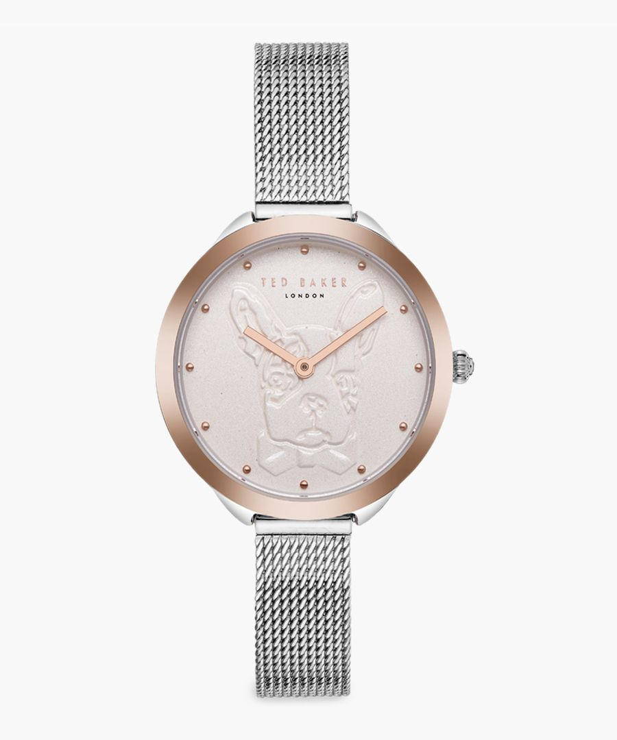 Elana silver and rose gold-tone watch