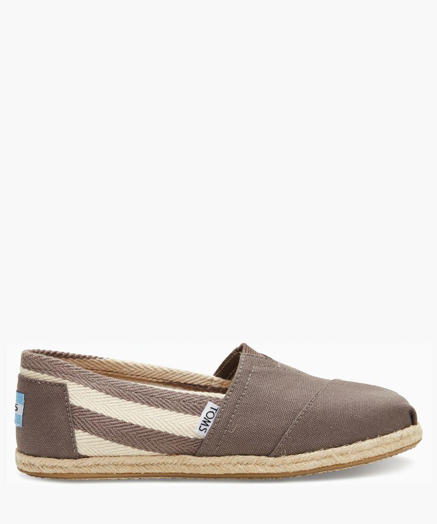 Alpargata grey canvas shoes