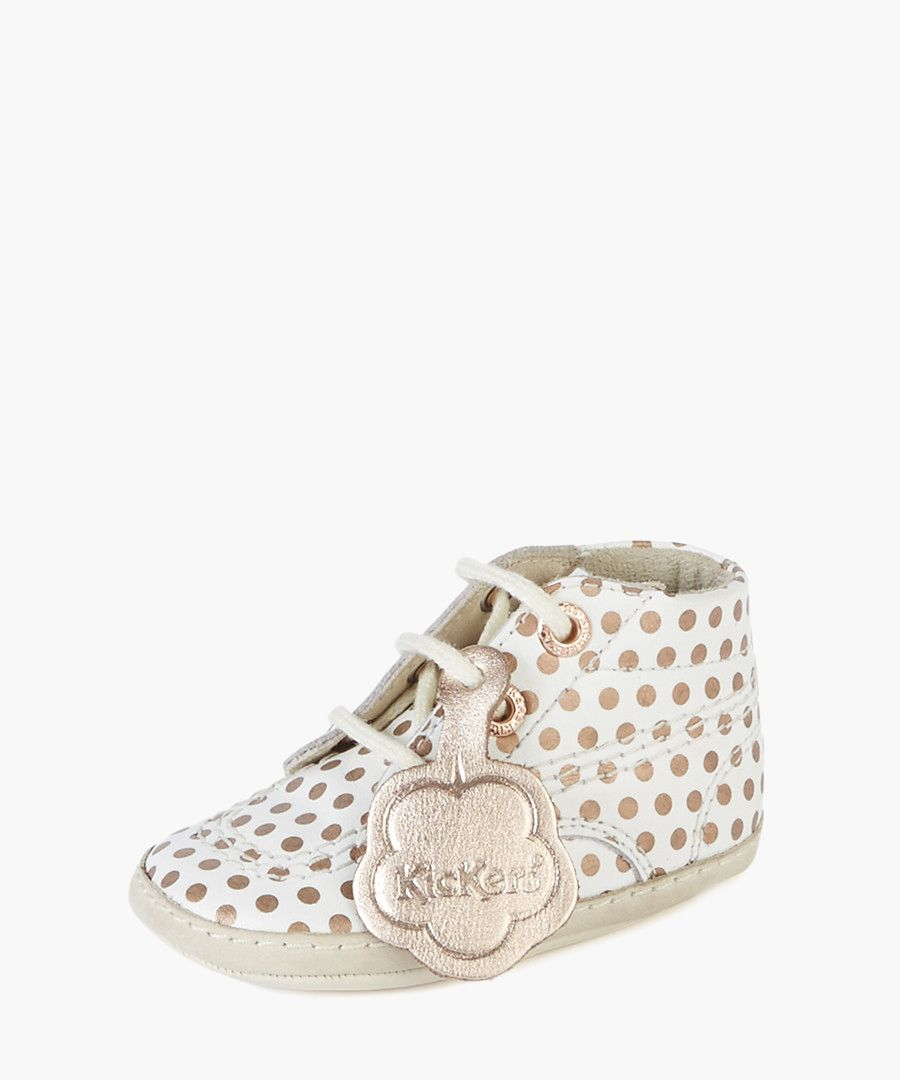 Kids white lace-up shoes
