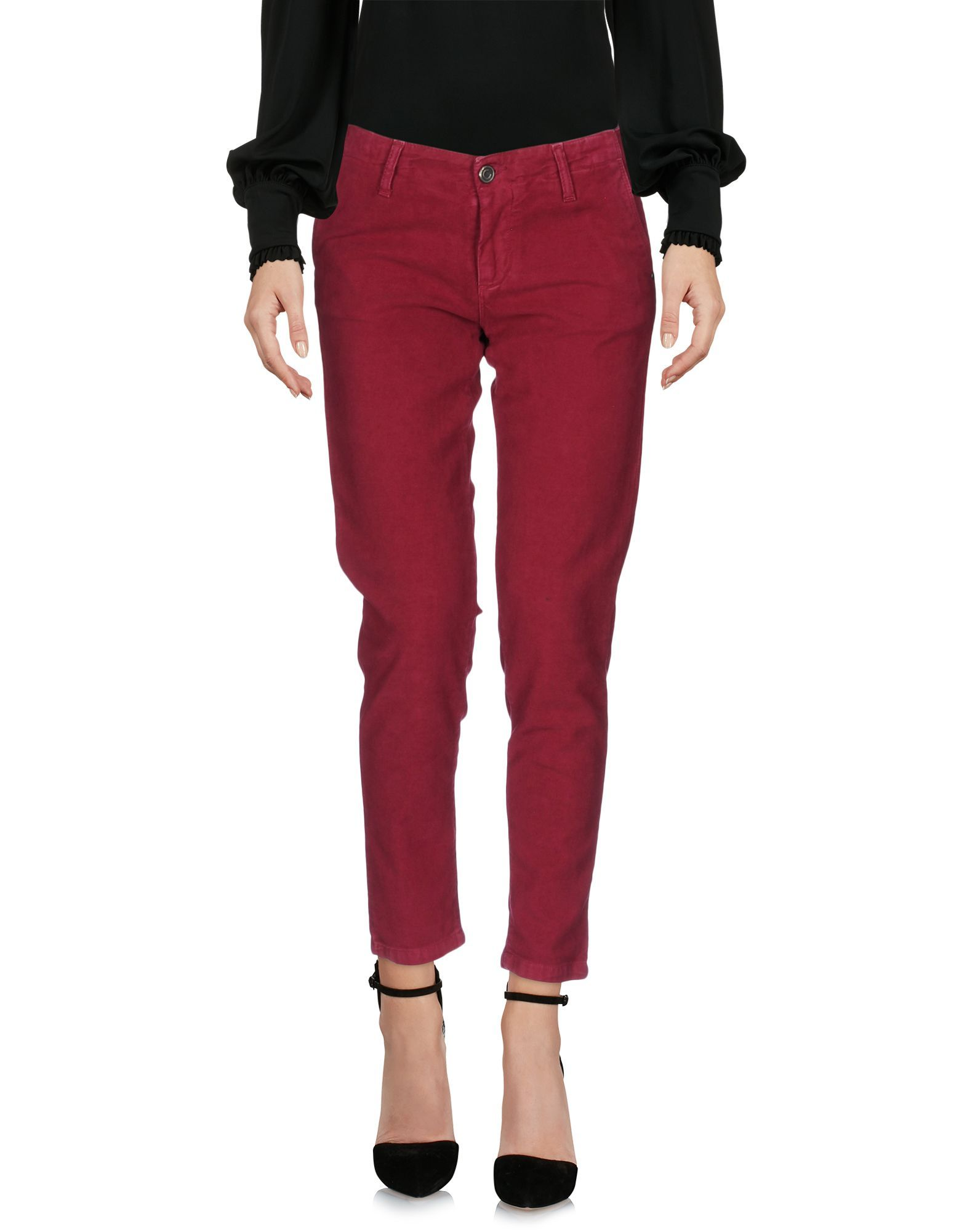 Colmar Garnet Cotton Tapered Leg Trousers
