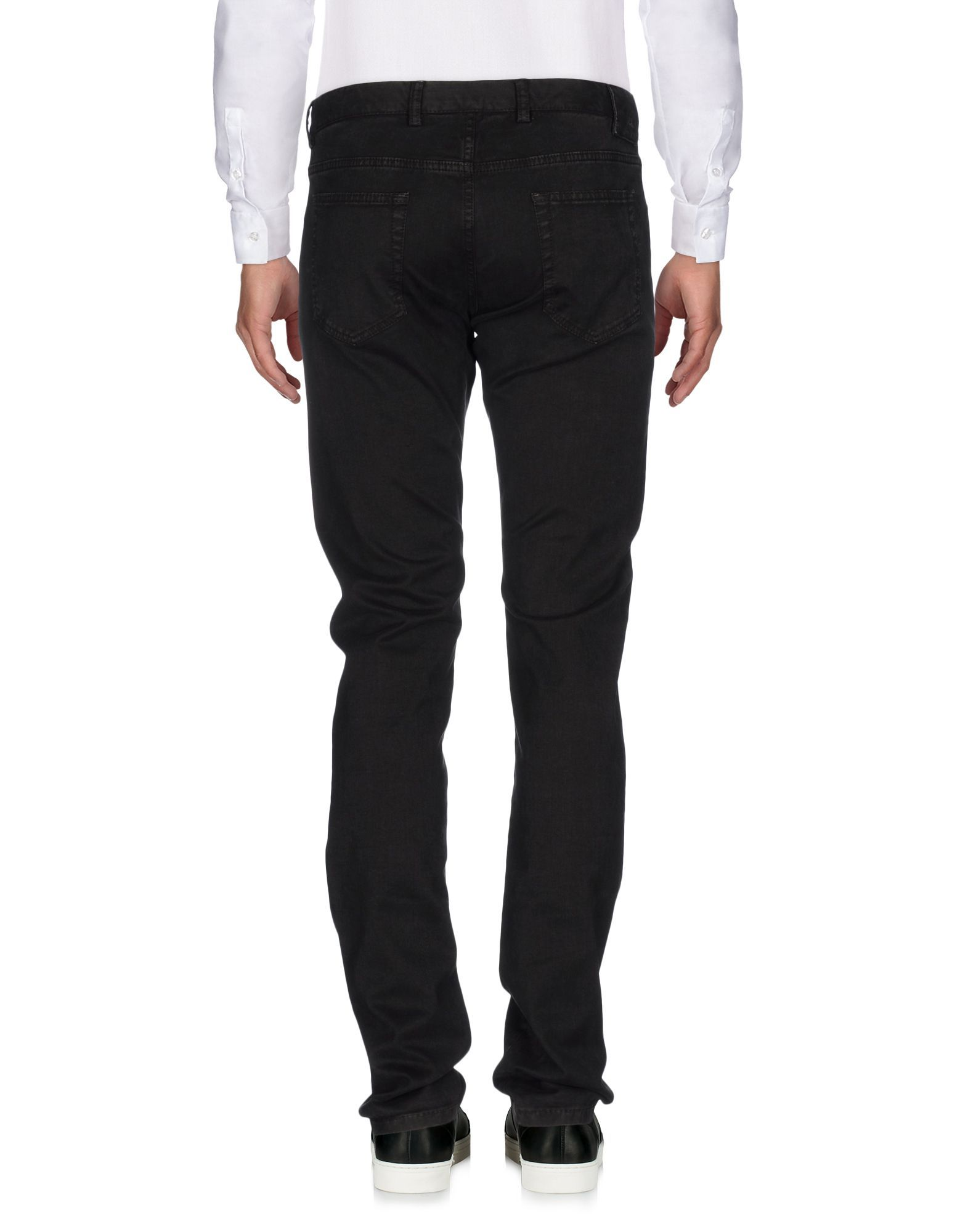 Black mid-rise trousers