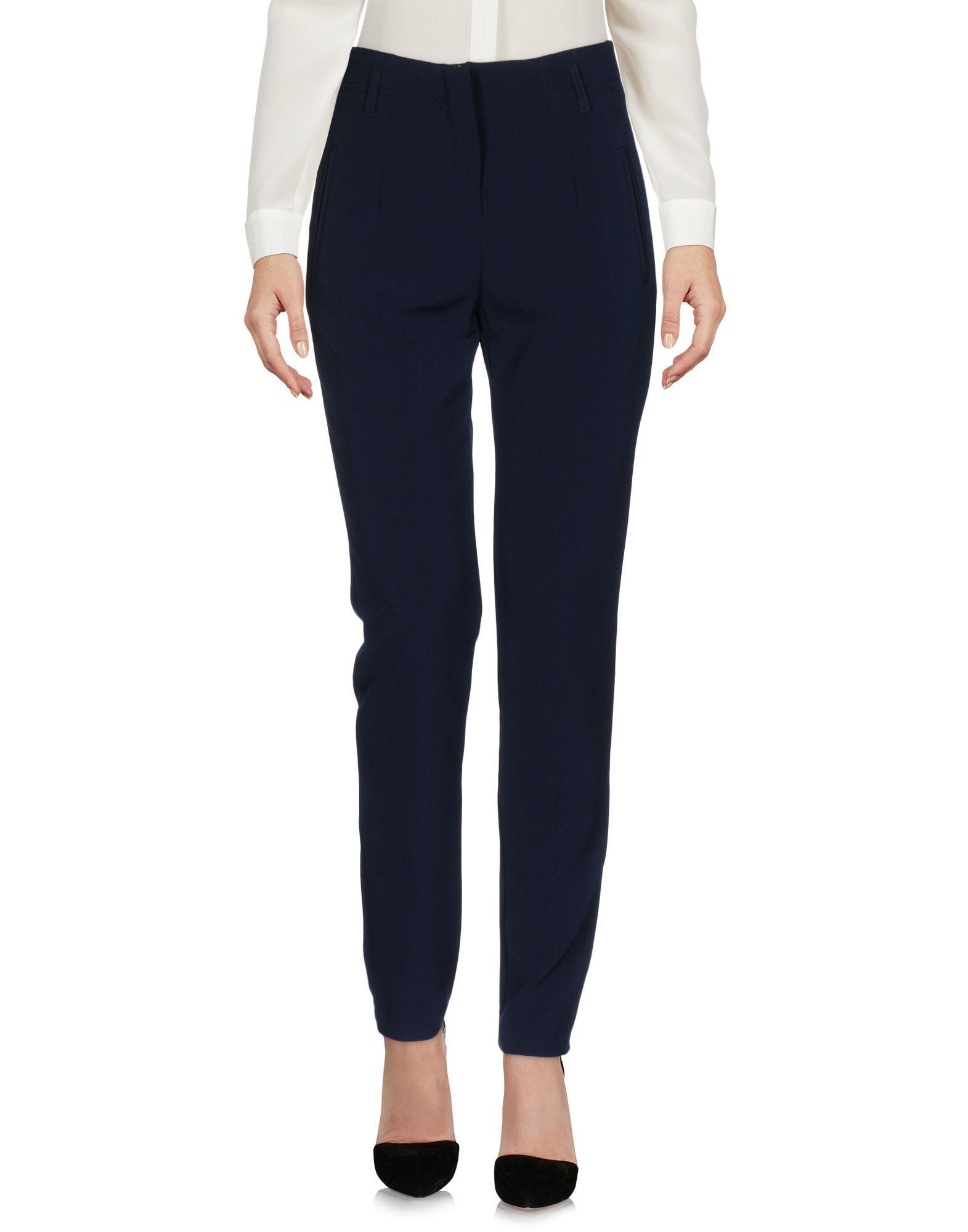 Kaos Dark Blue Crepe Straight Leg Trousers