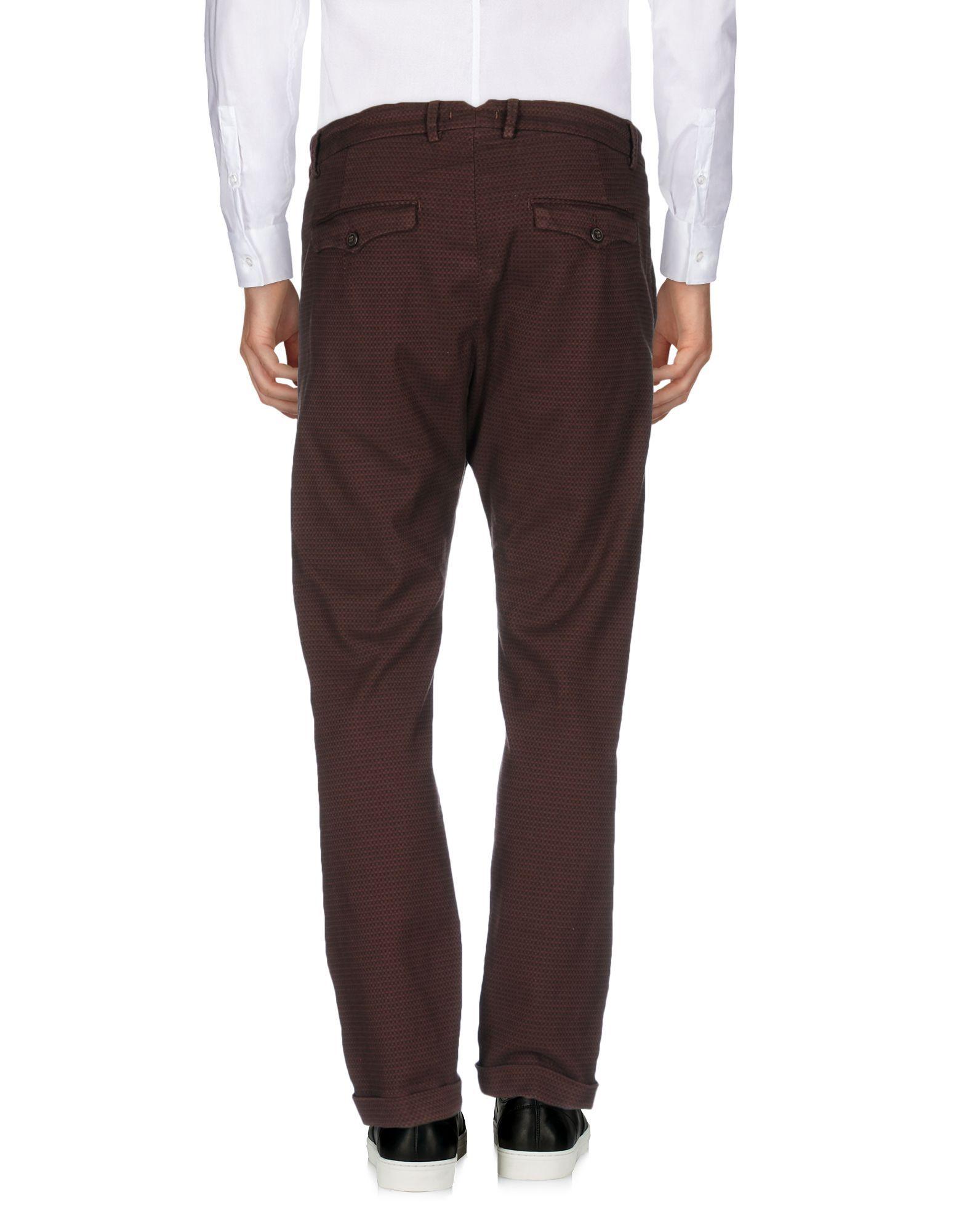 True Nyc® Maroon Cotton Pantaloni