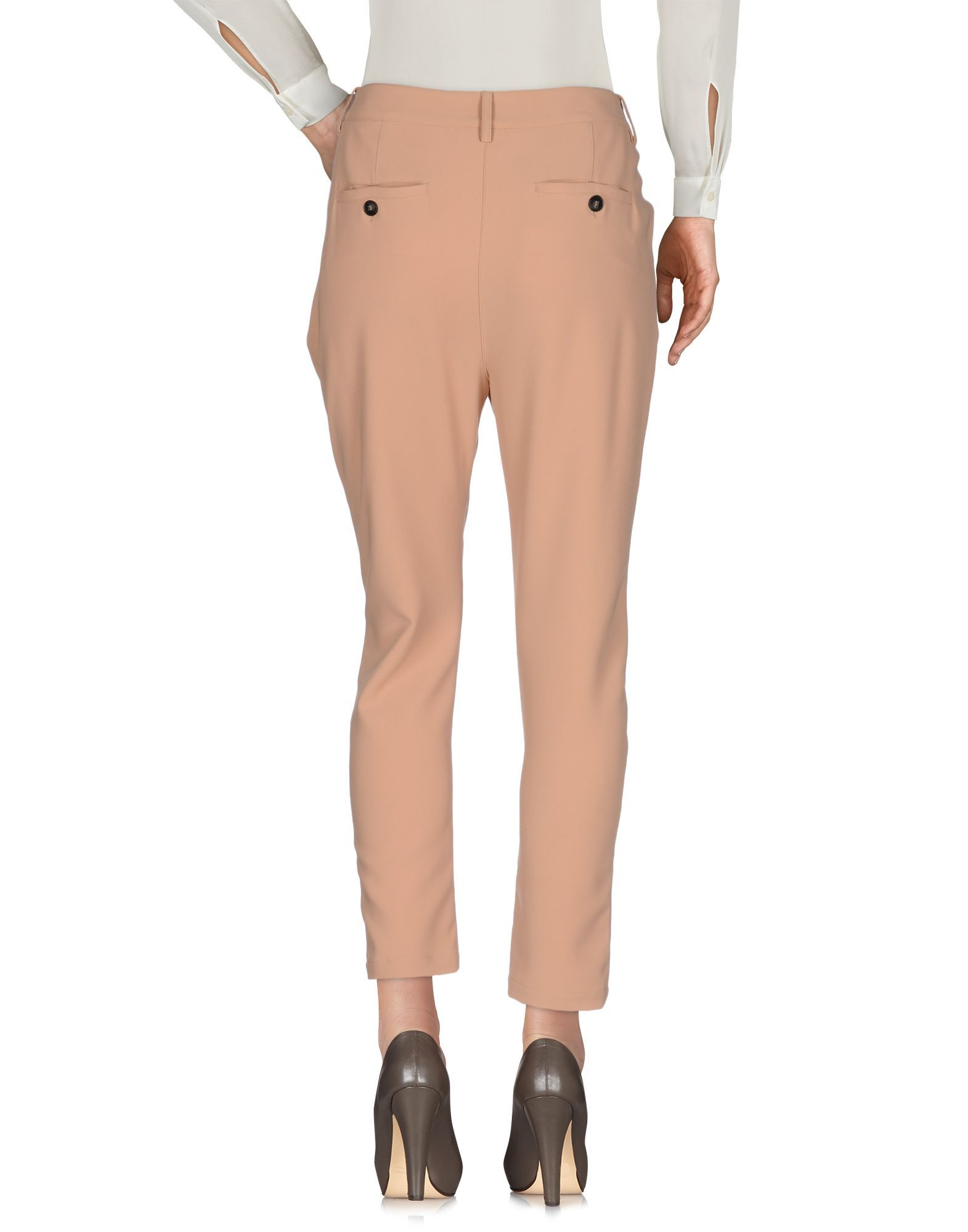 Atos Atos Lombardini Pale Pink High Waisted Tapered Leg Tailored Trousers