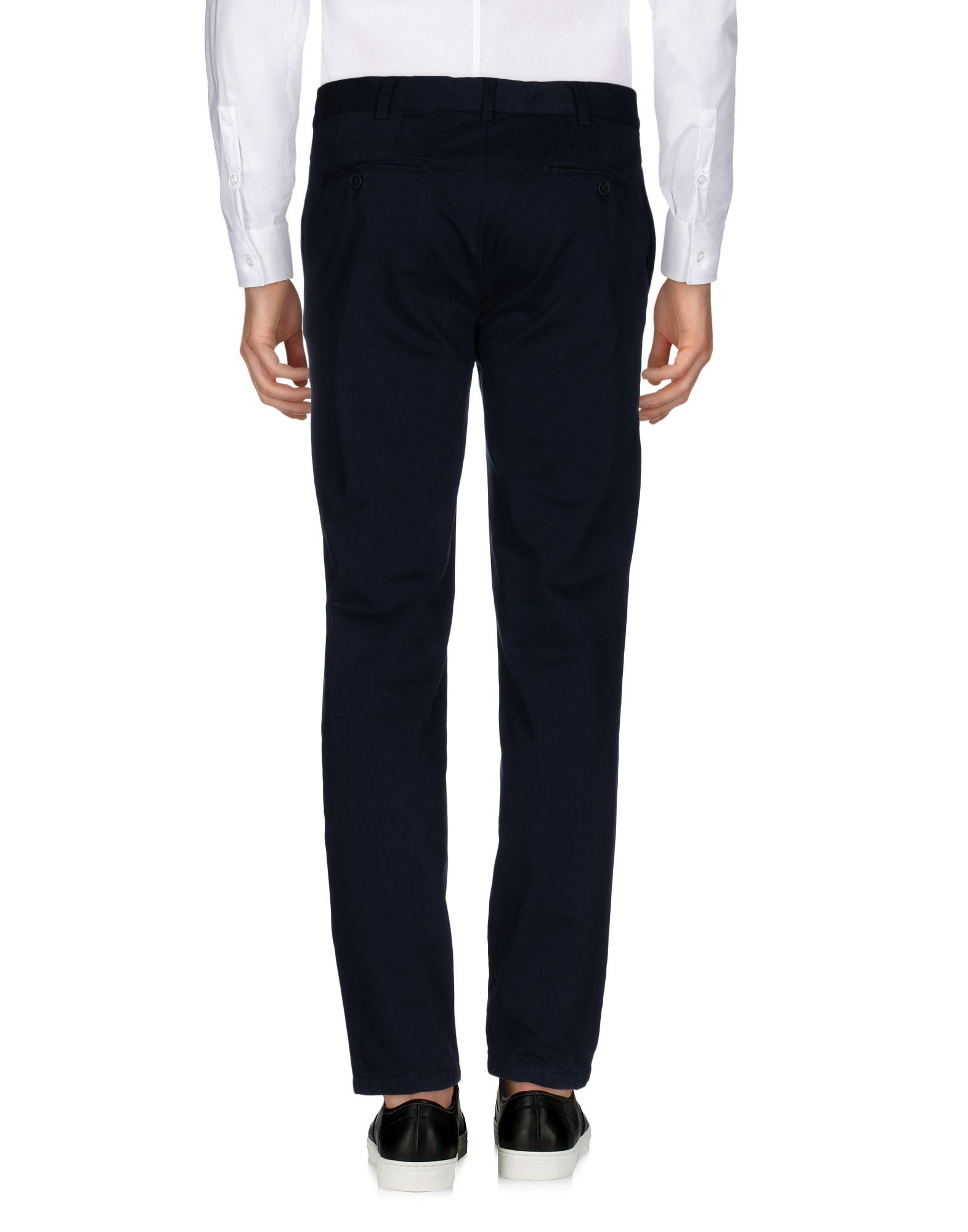 Blue mid-rise cotton-gabardine tapered trousers