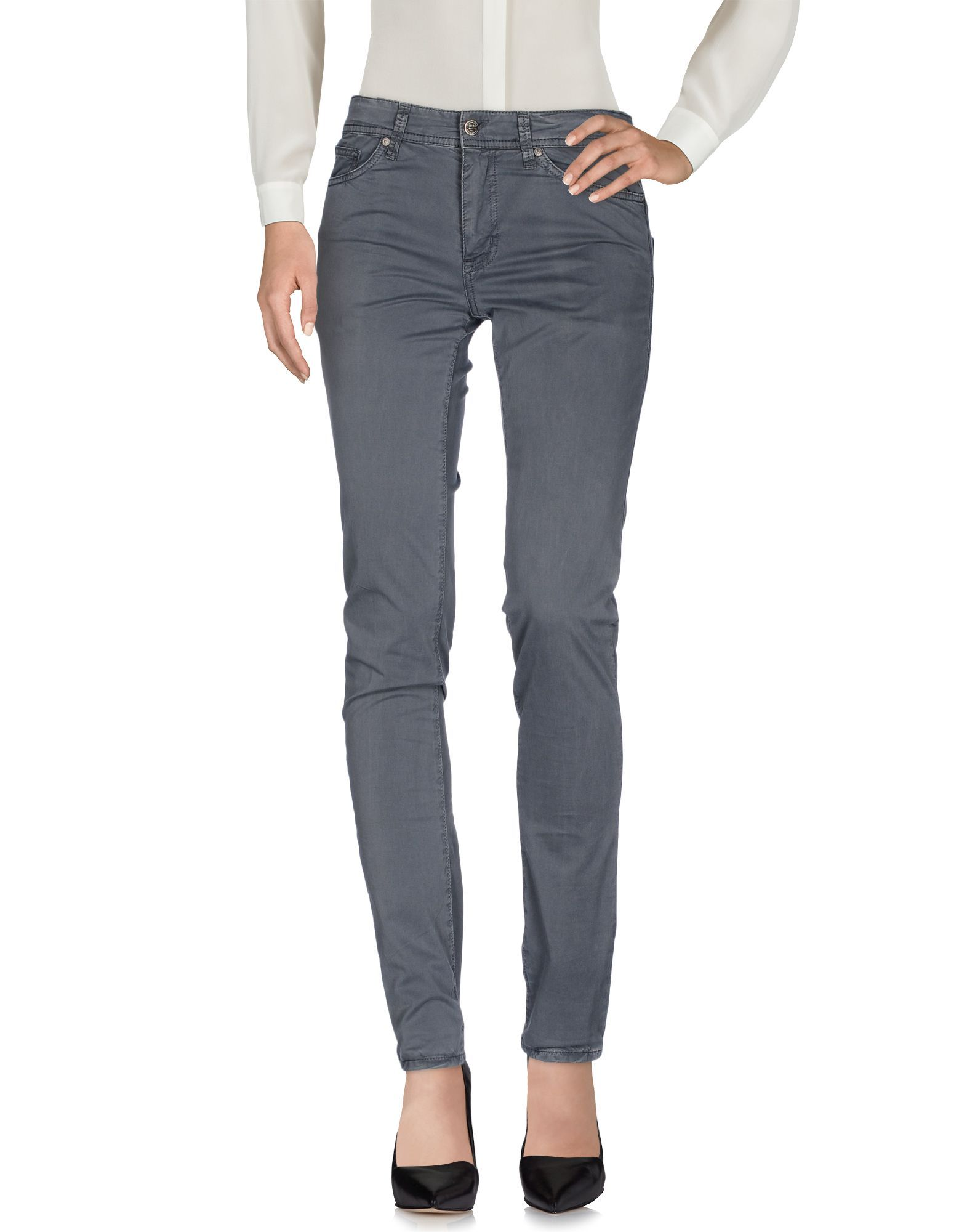 Liu Jo Grey Cotton Trousers