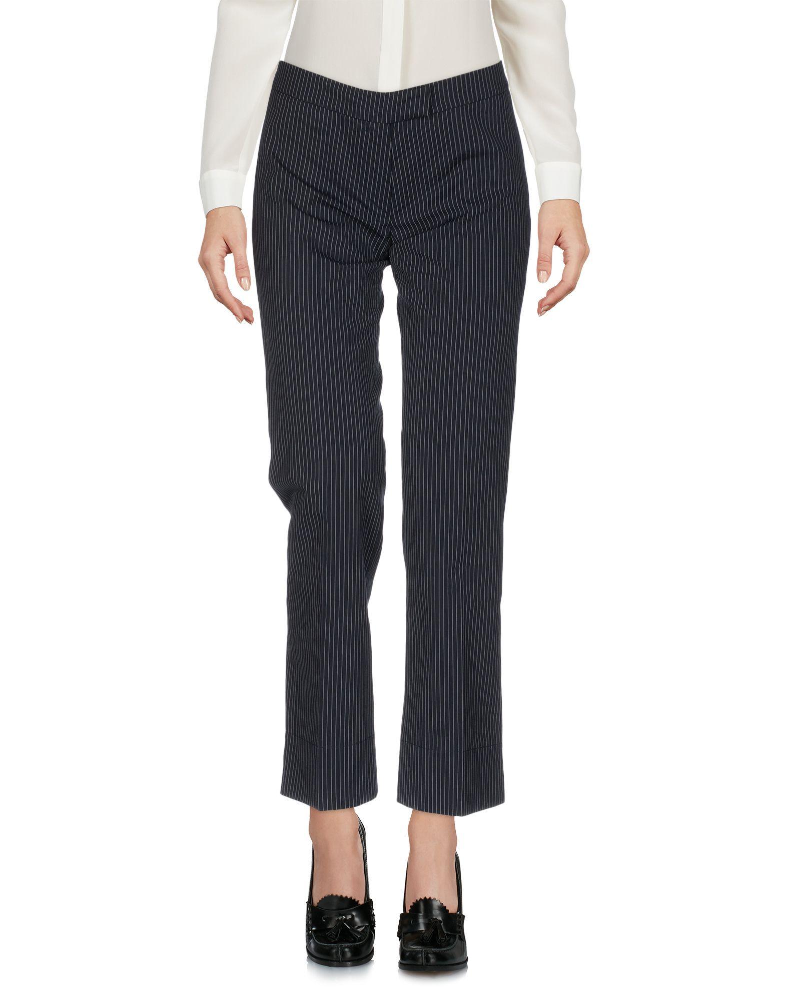 Boule De Neige Dark blue, Steel grey Cotton Pantaloni