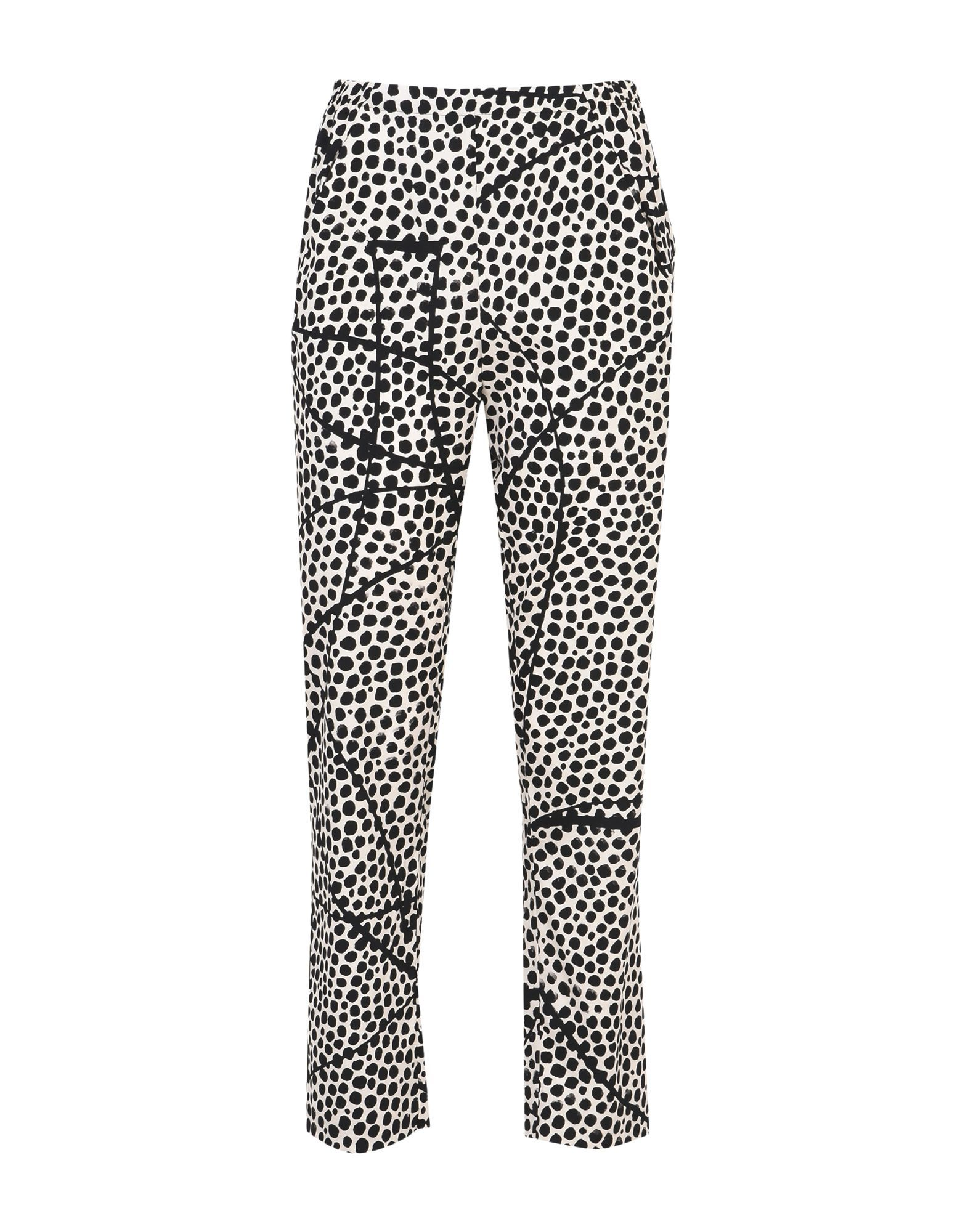 Zero + Maria Cornejo Beige Silk Pantaloni