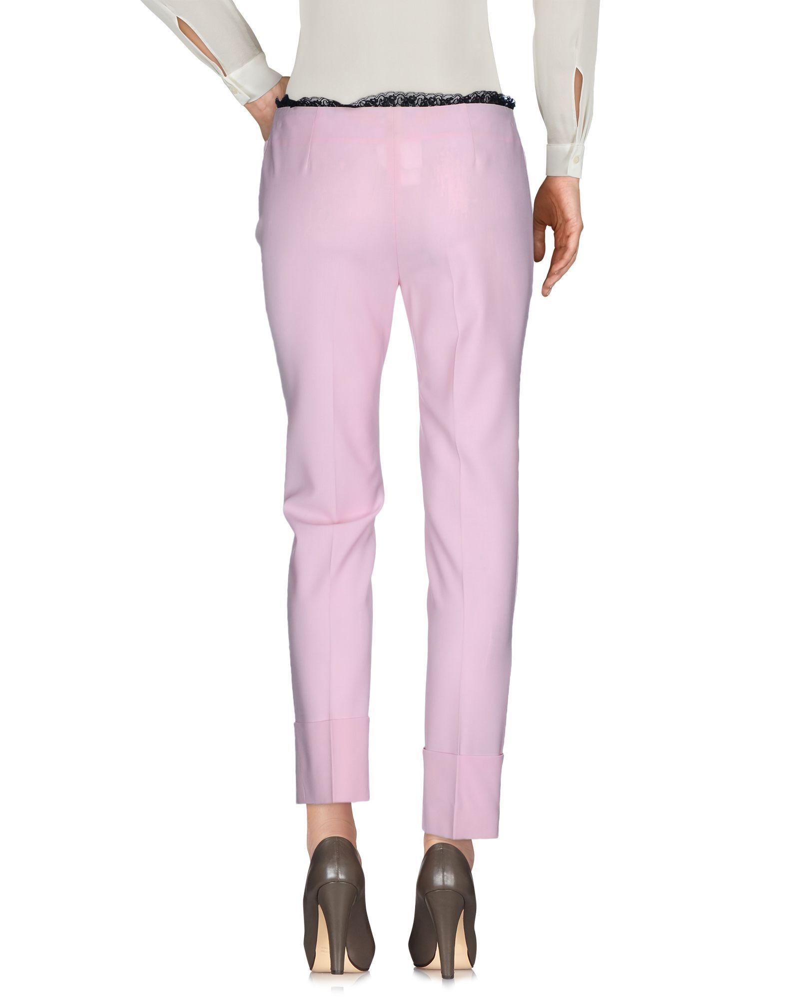 John Richmond Pink Virgin Wool Trousers