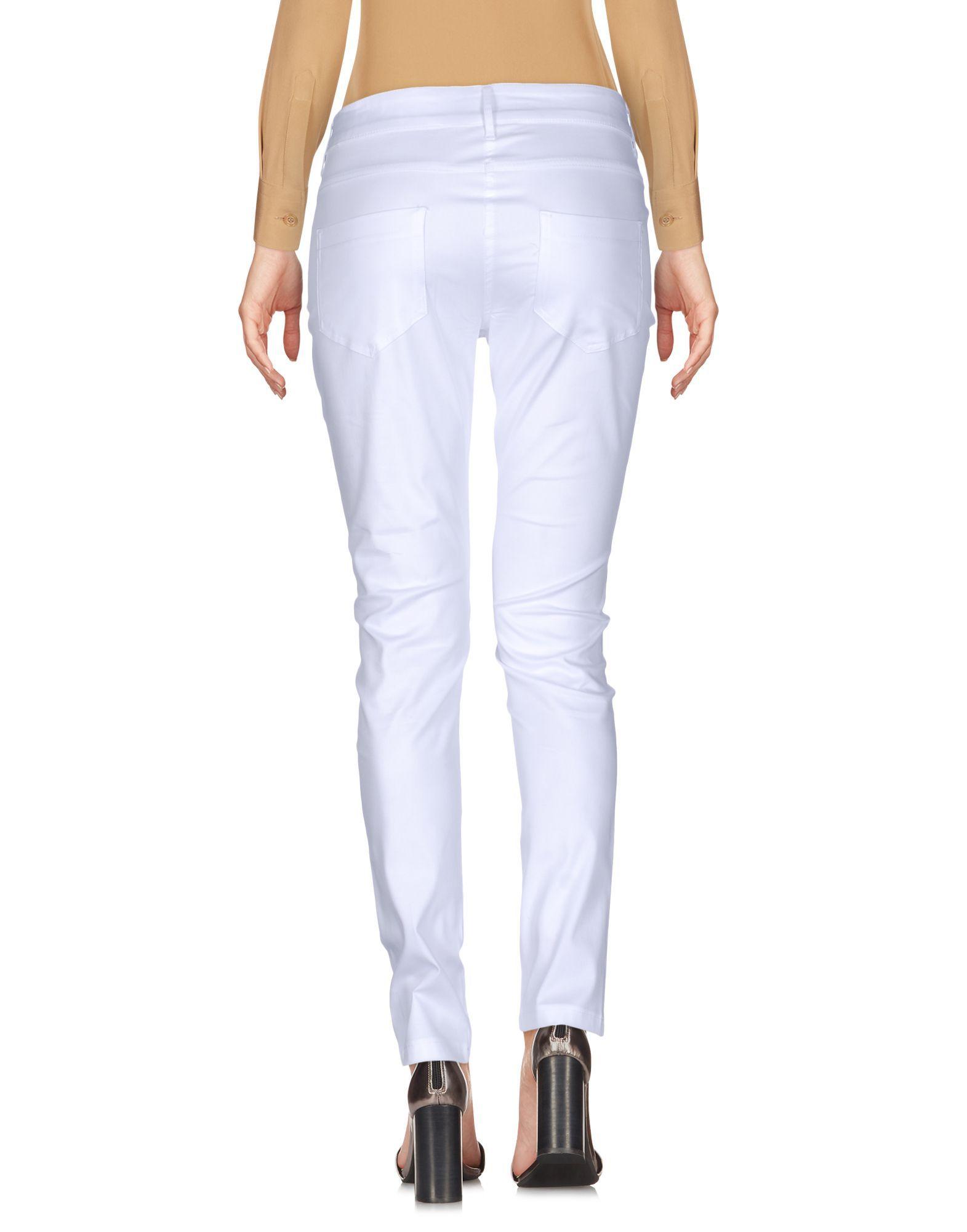 La Kore White Cotton Trousers