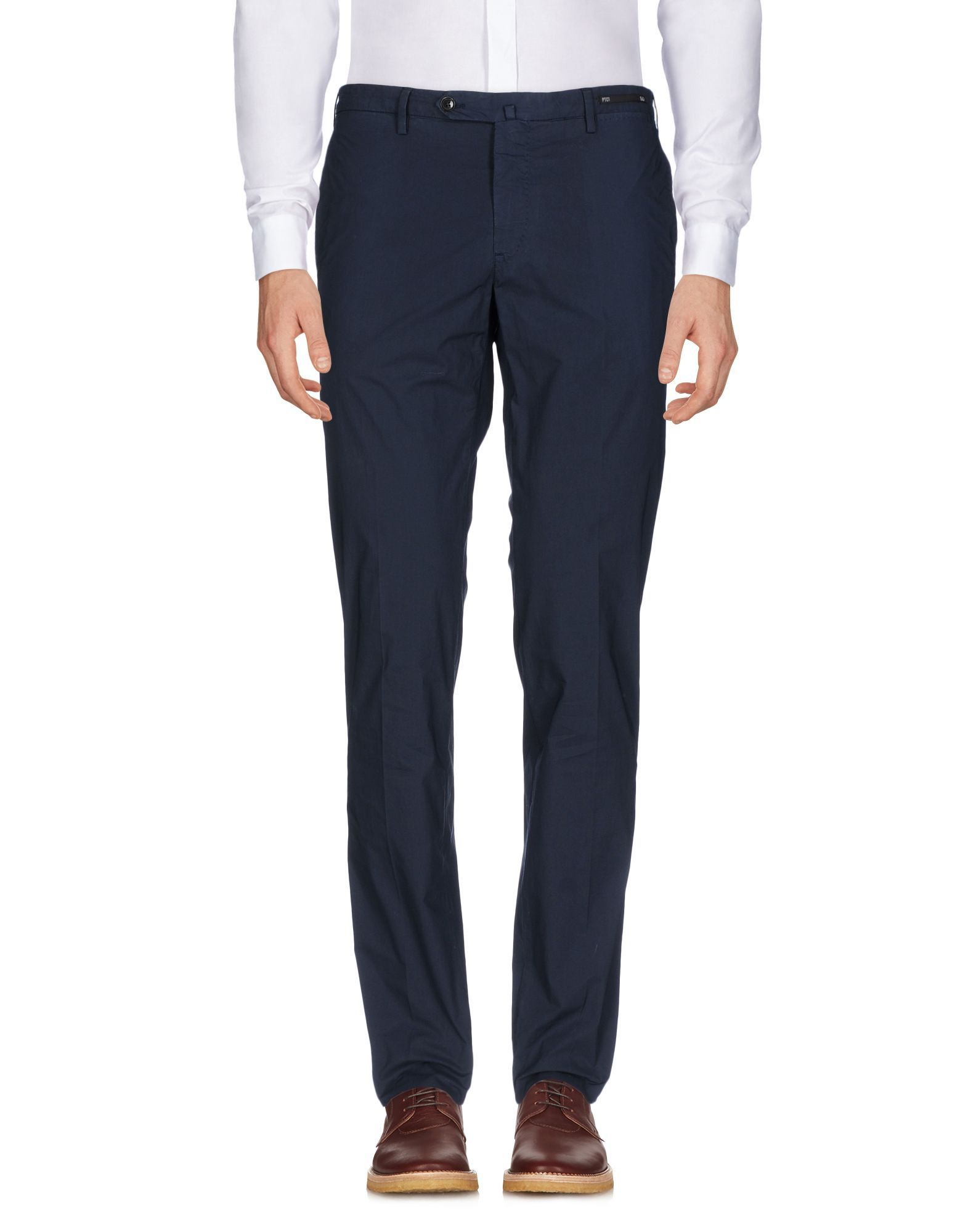 Pt01 Dark blue Cotton Pantaloni
