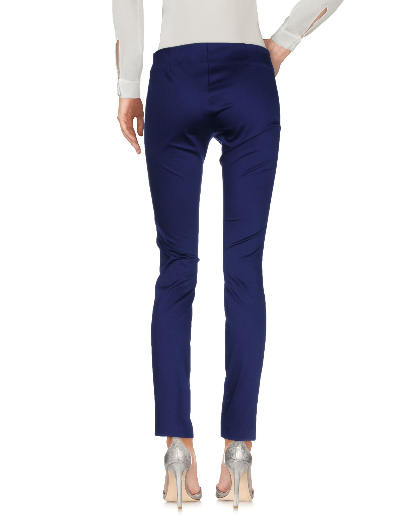 TROUSERS Love Moschino Dark blue Woman Cotton