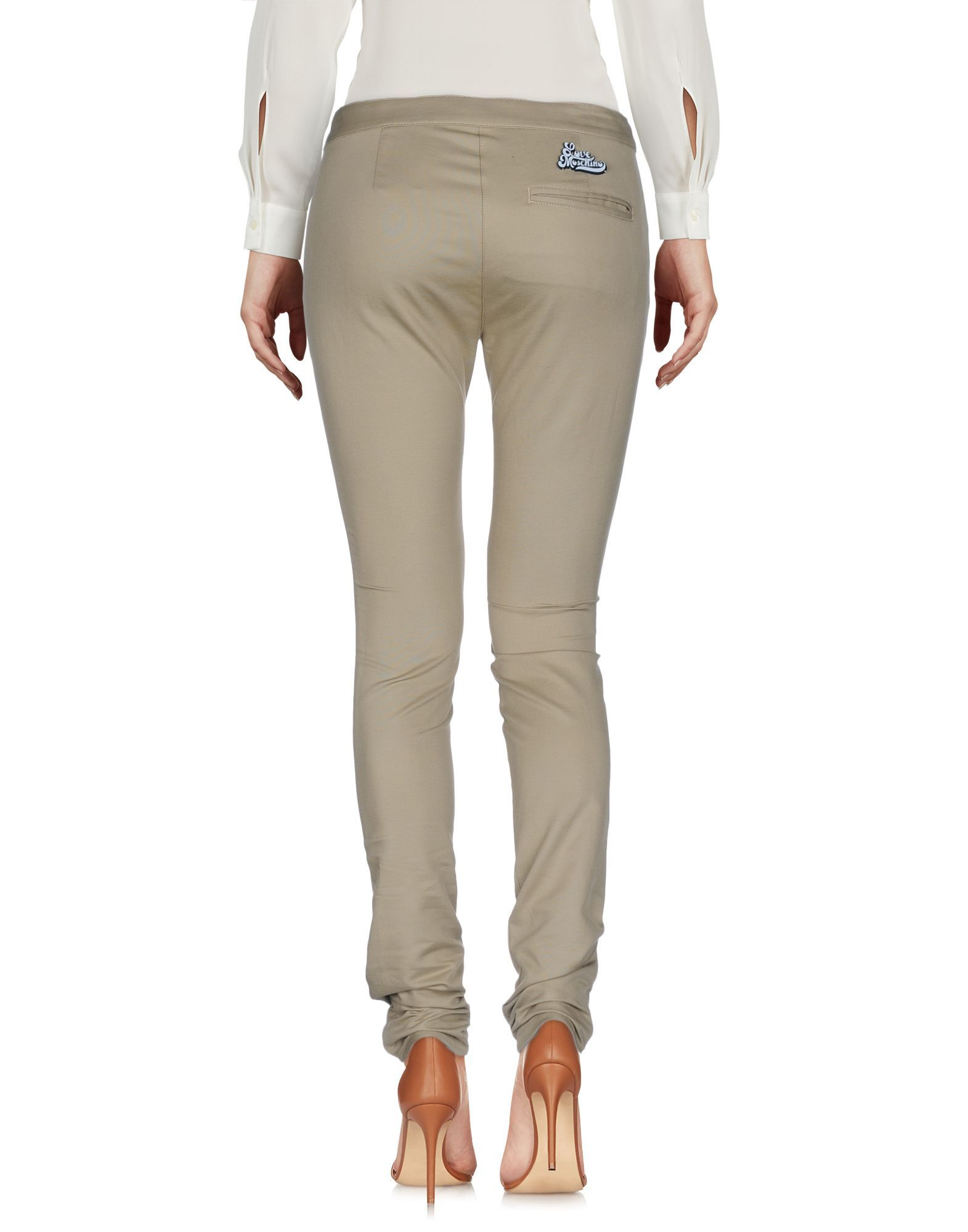 TROUSERS Love Moschino Beige Woman Cotton