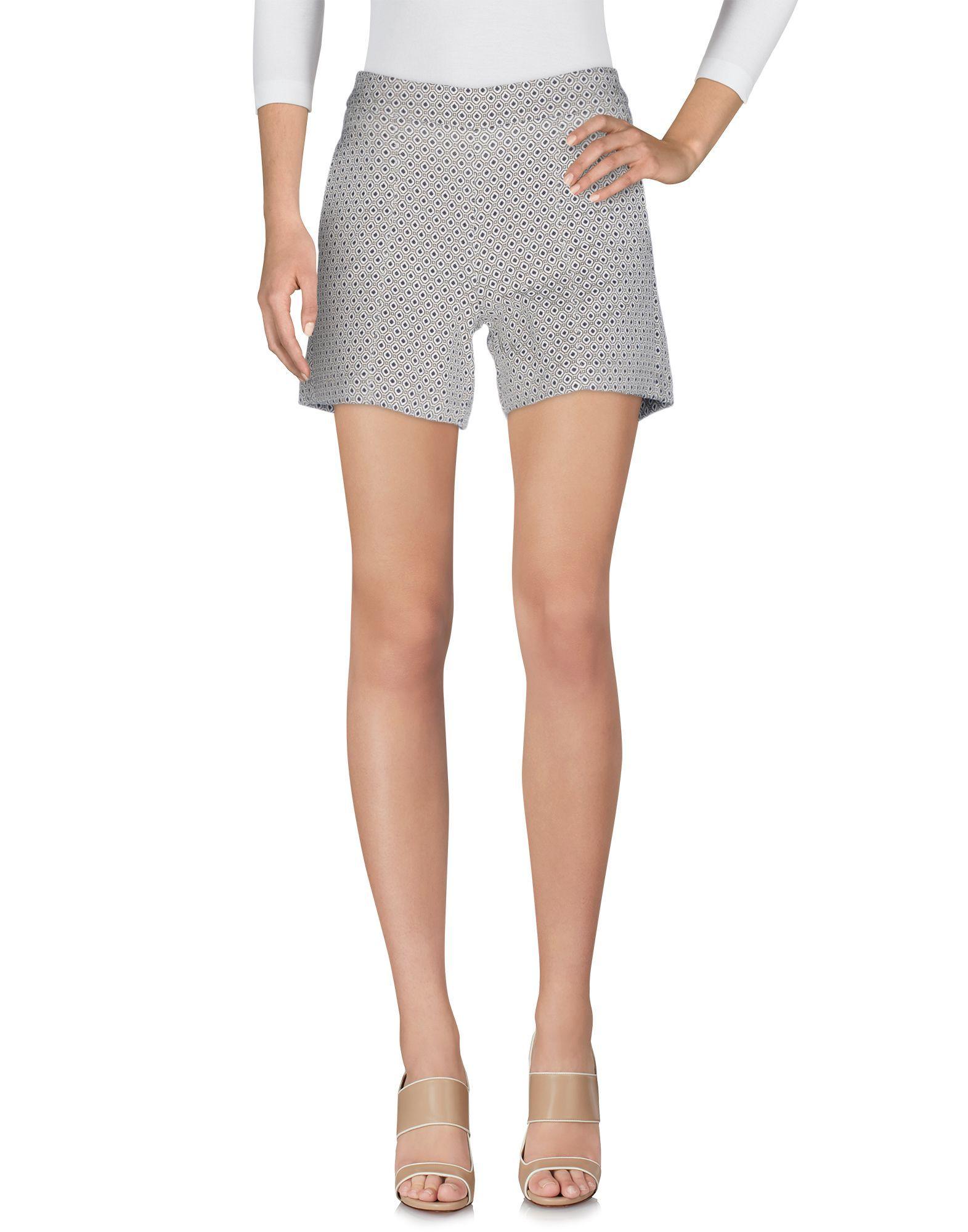 Kaos Jeans Beige Jacquard Shorts