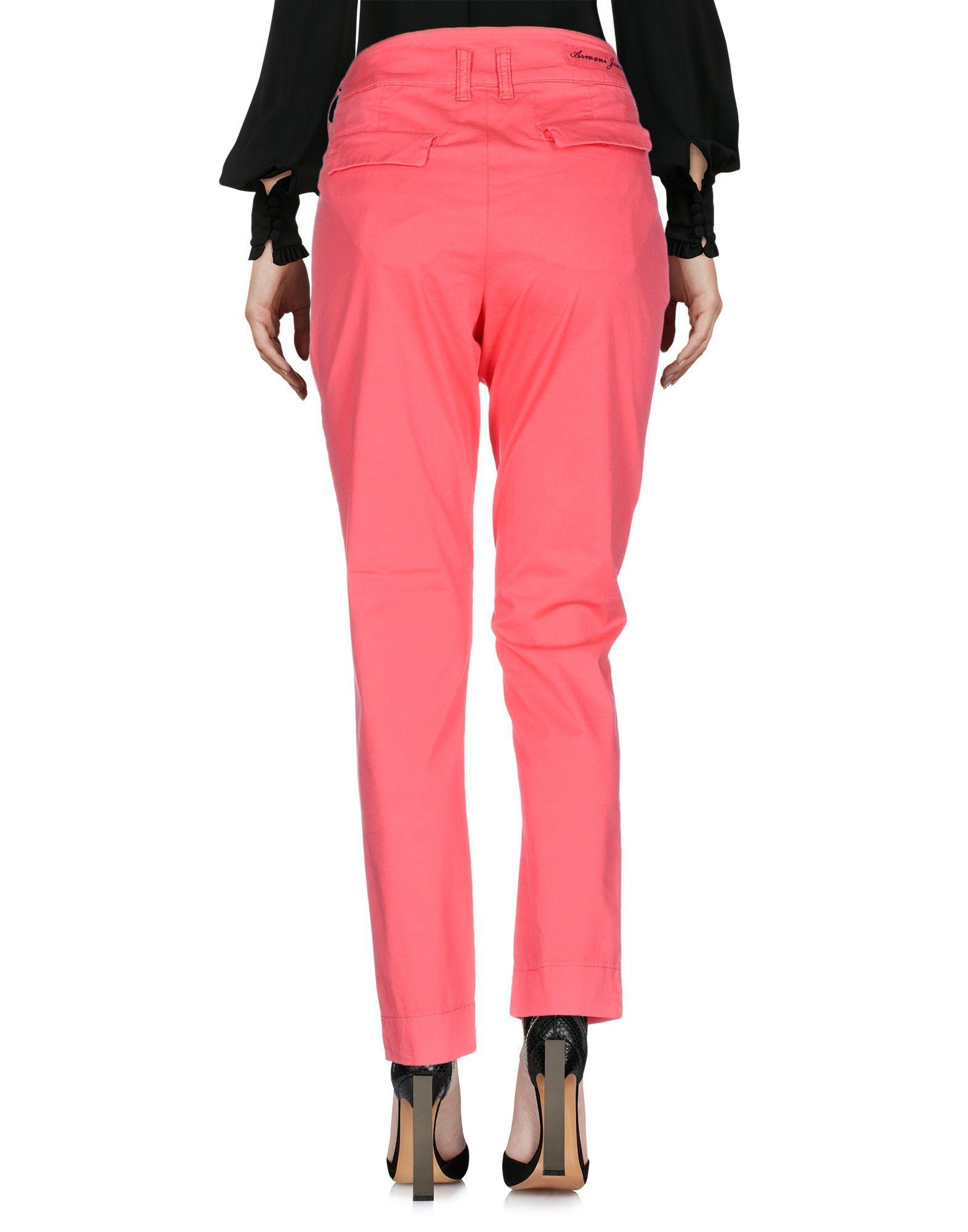 Armani Jeans Coral Cotton Trousers