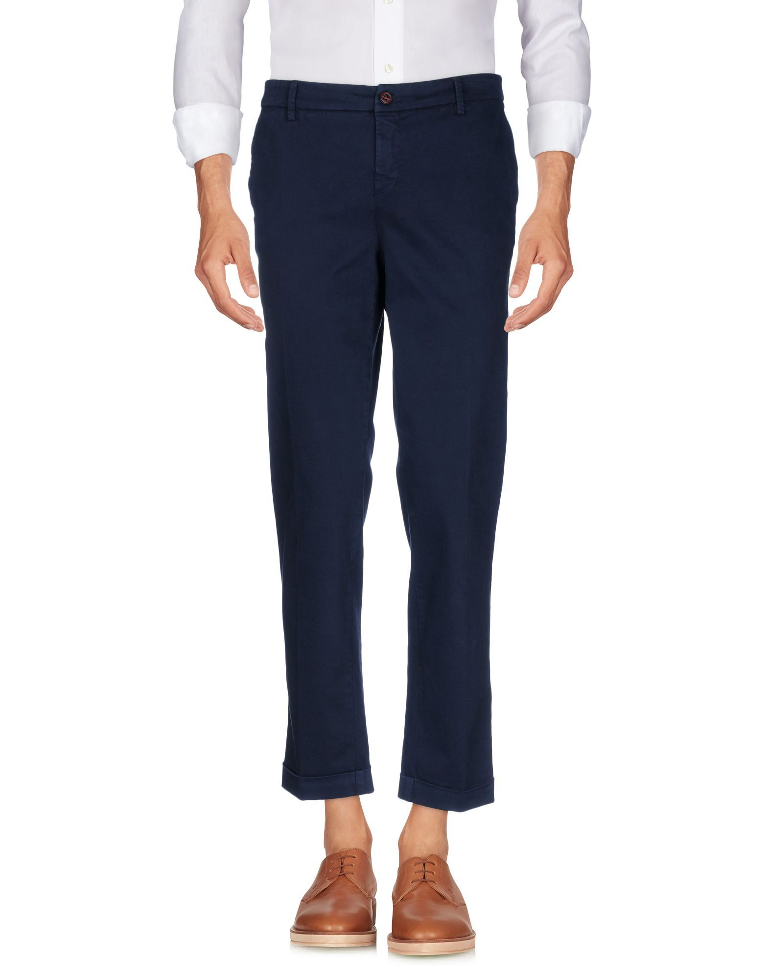 Fay Dark Blue Cotton Trousers