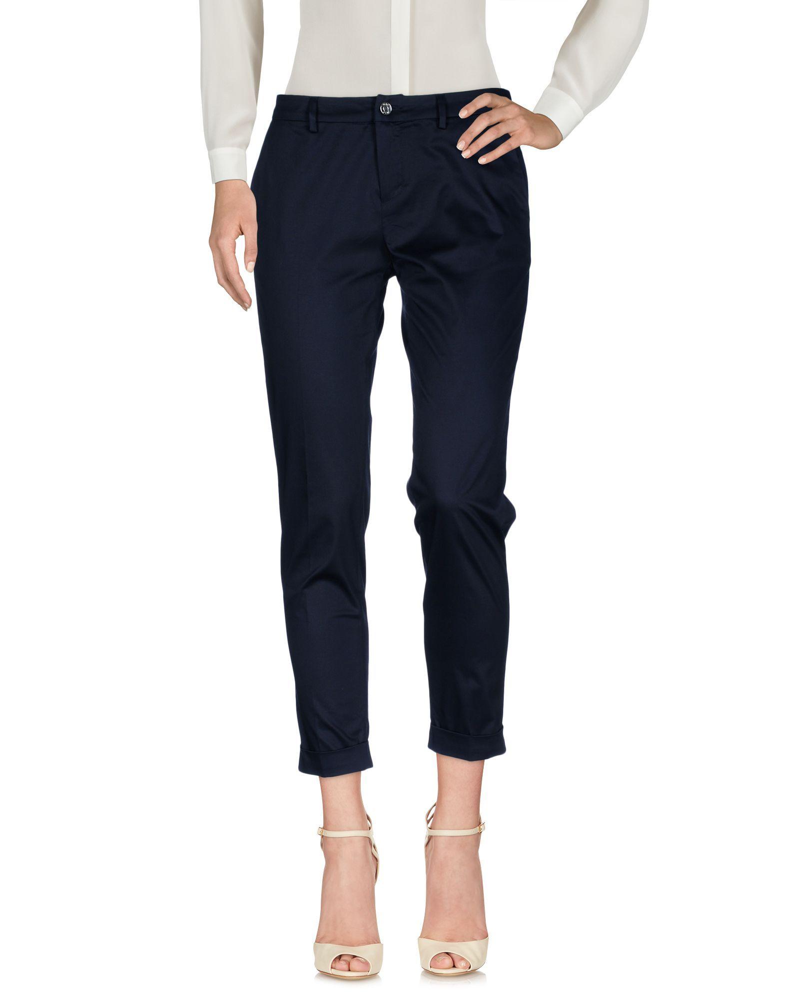 Liu Jo Dark Blue Cotton Cropped Trousers