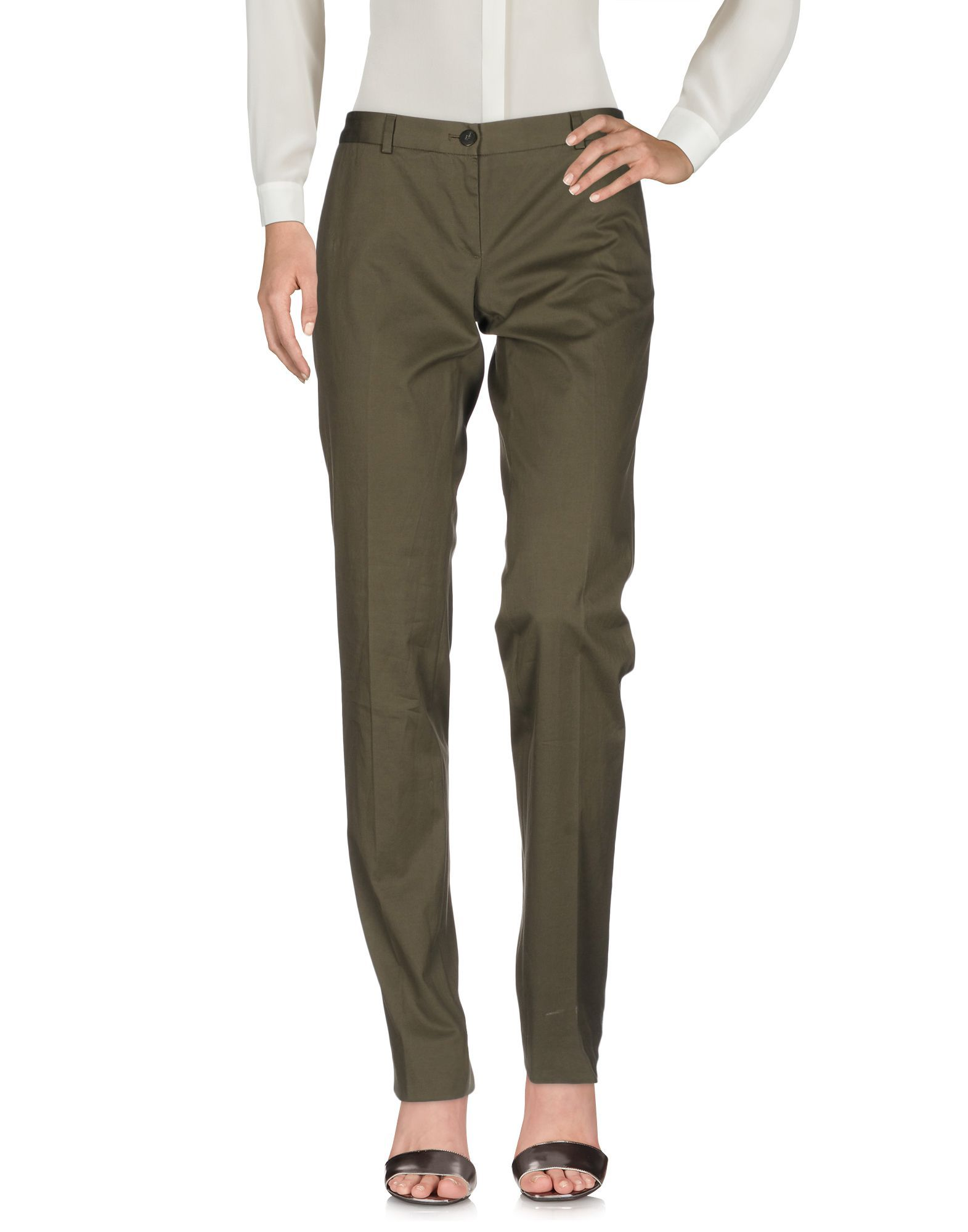 Mauro Grifoni Military Green Cotton Trousers