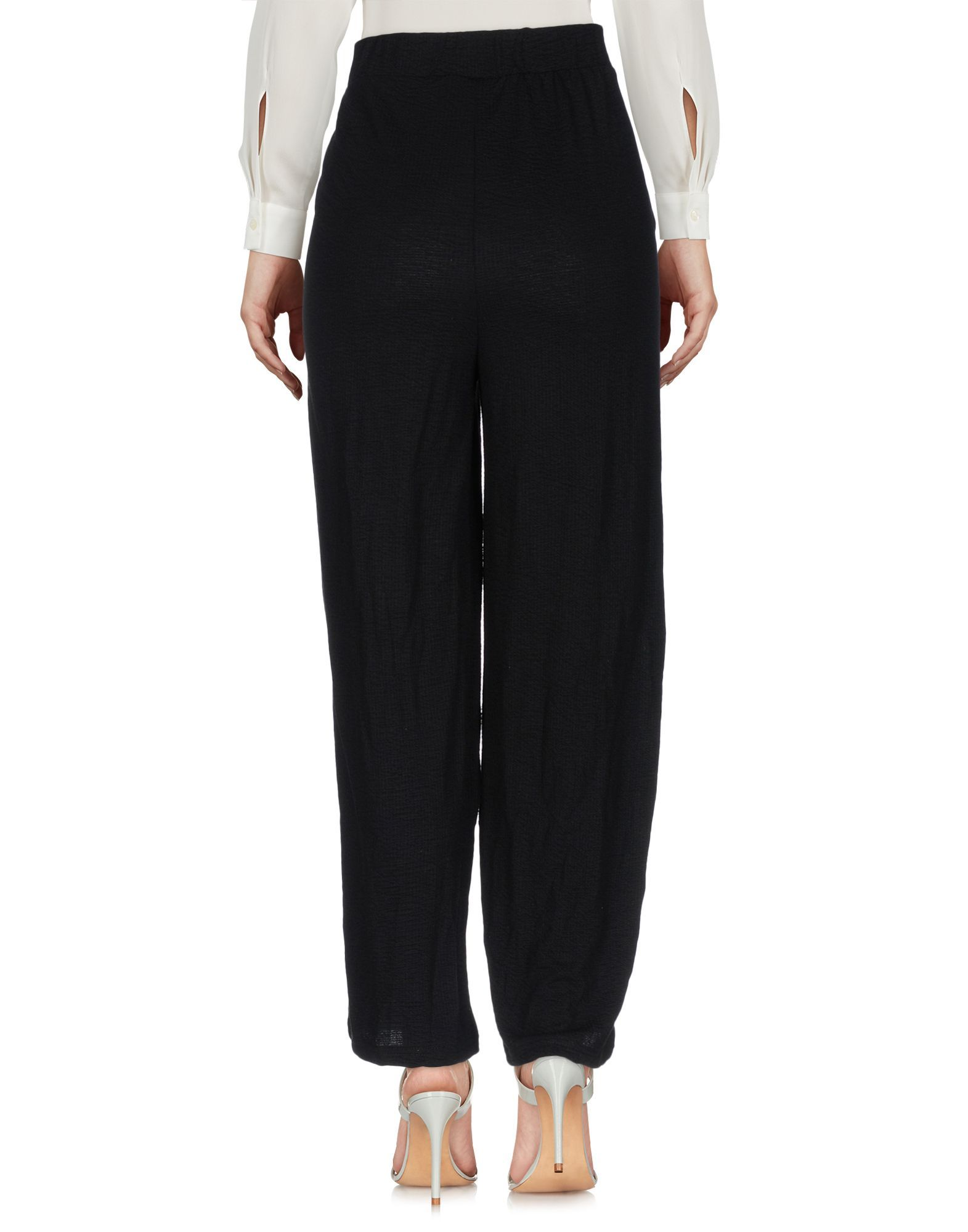 Minimum Black Polyester Pantaloni capri